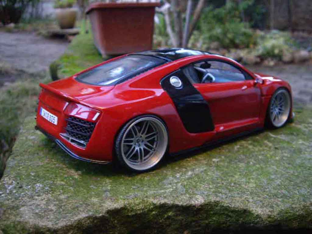 Audi R8 1/18 Maisto tdi jantes rs4 tuning miniatura