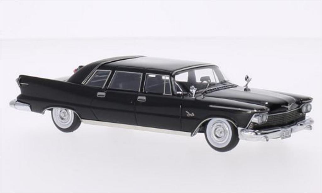 Imperial Crown 1/43 GLM Ghia Limousine matt-noire 1958 miniature