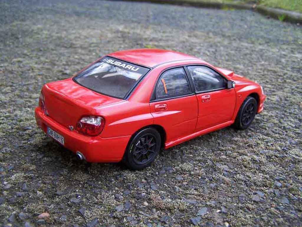Subaru Impreza WRX 1/18 Solido 2005 rouge jdm