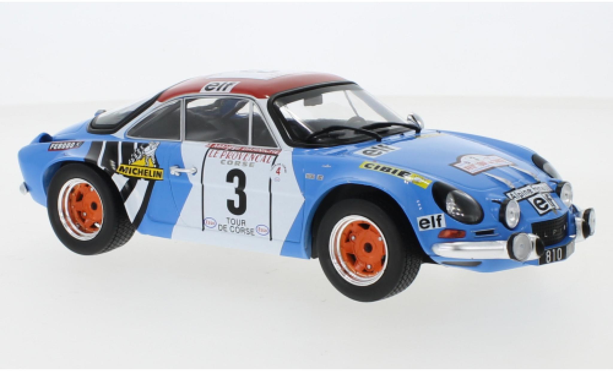 Alpine A110 1/18 IXO Renault No.3 Tour de Corse 1973 B.Darniche/A.Mahe
