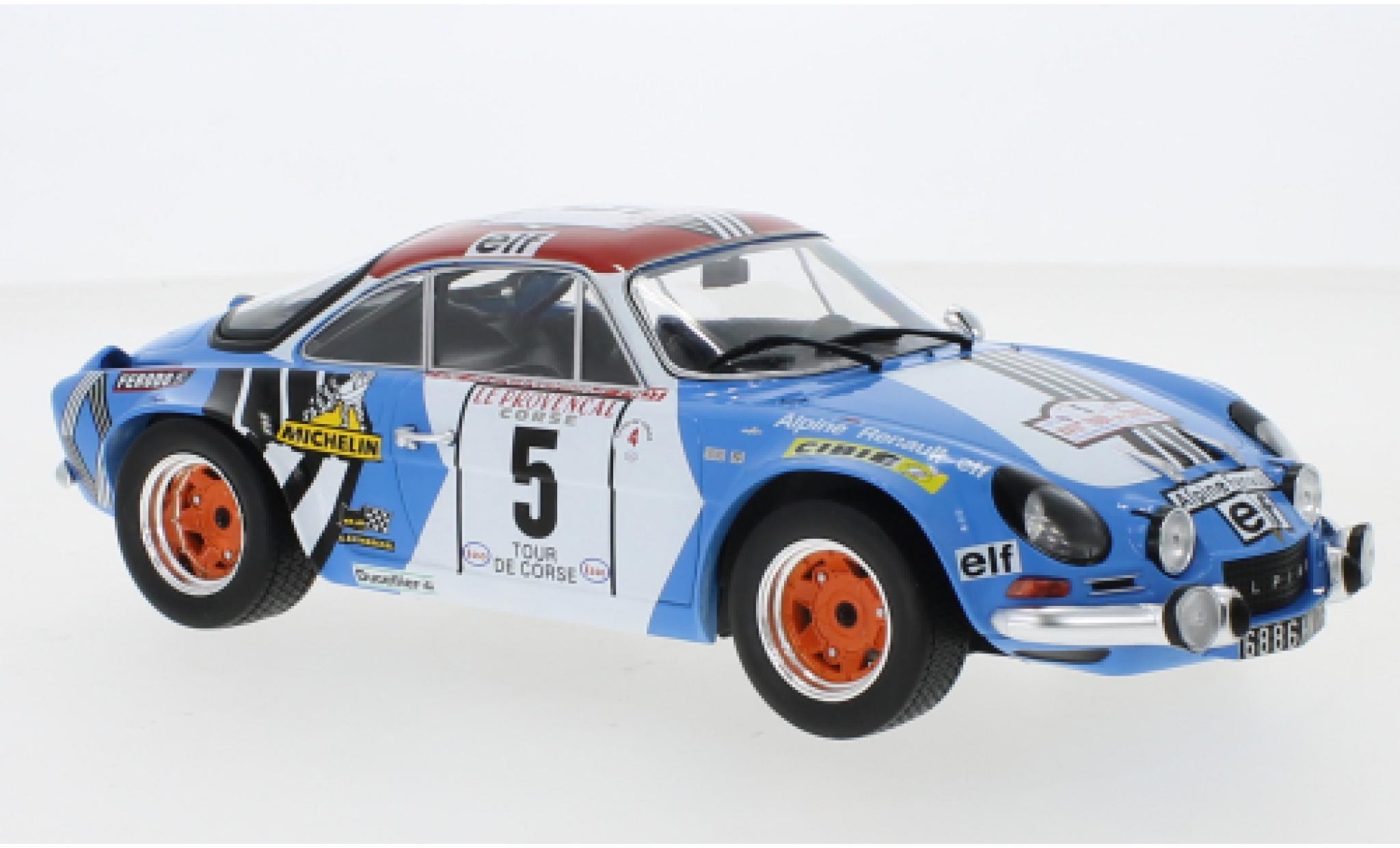 Alpine A110 1/18 IXO Renault No.5 Tour de Corse 1973 J.F.Piot/J.De Alexandris