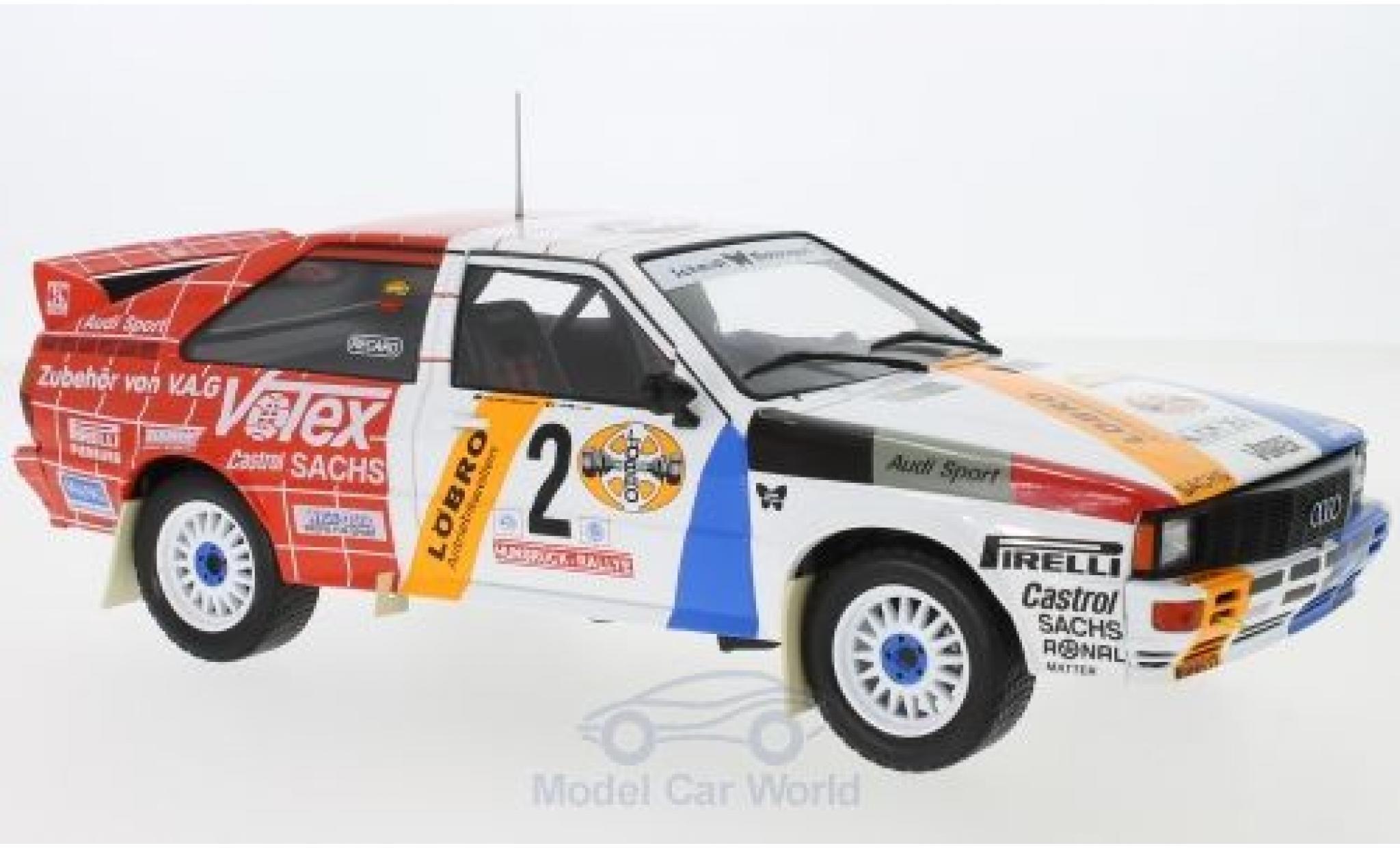 Audi Quattro 1/18 IXO quattro No.2 Schmidt Motorsport Rallye DM Hunsrück Rallye 1984 H.Demuth/W.Lux