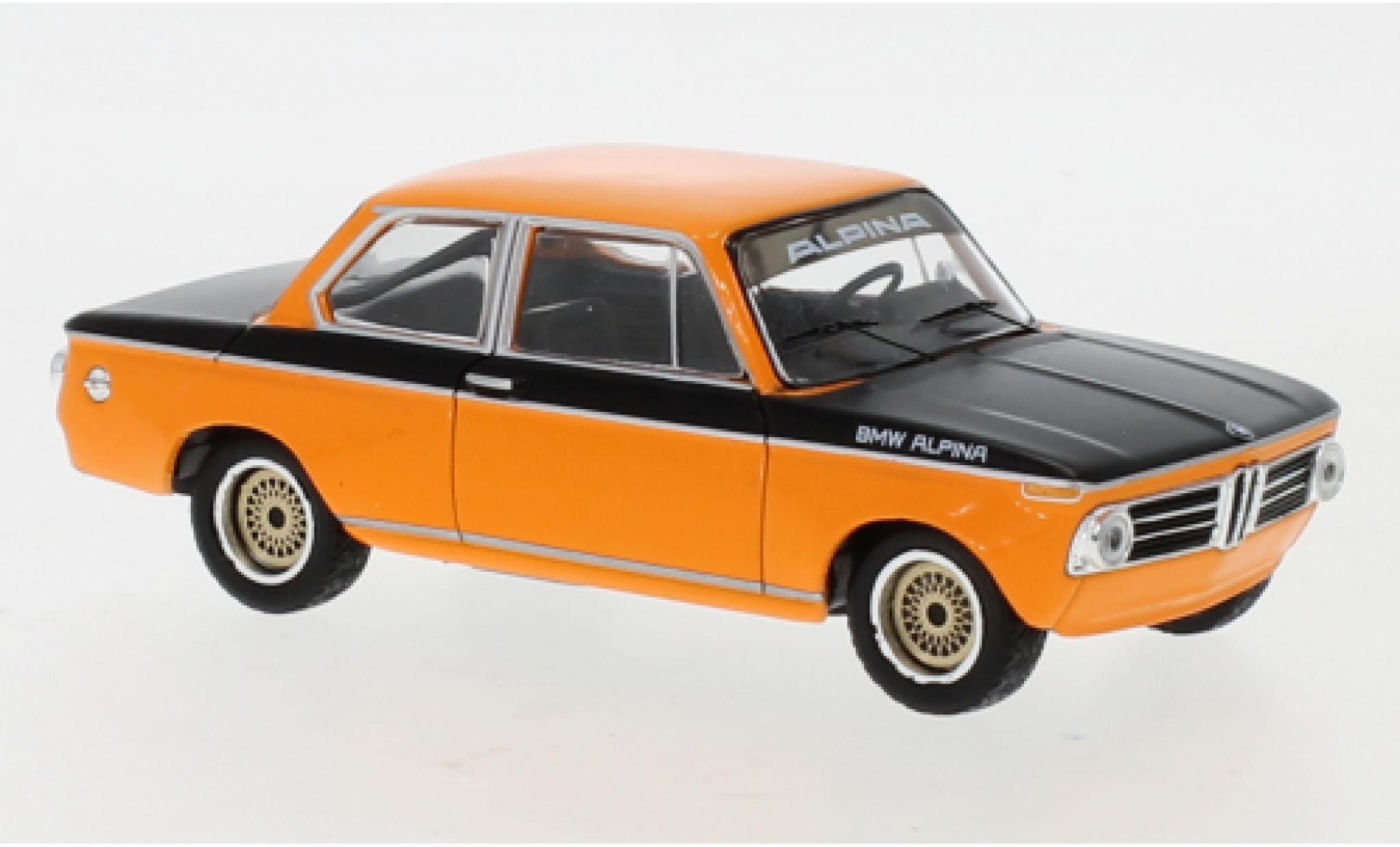 Bmw Alpina 1/43 IXO 2002 Tii orange/noire 1972