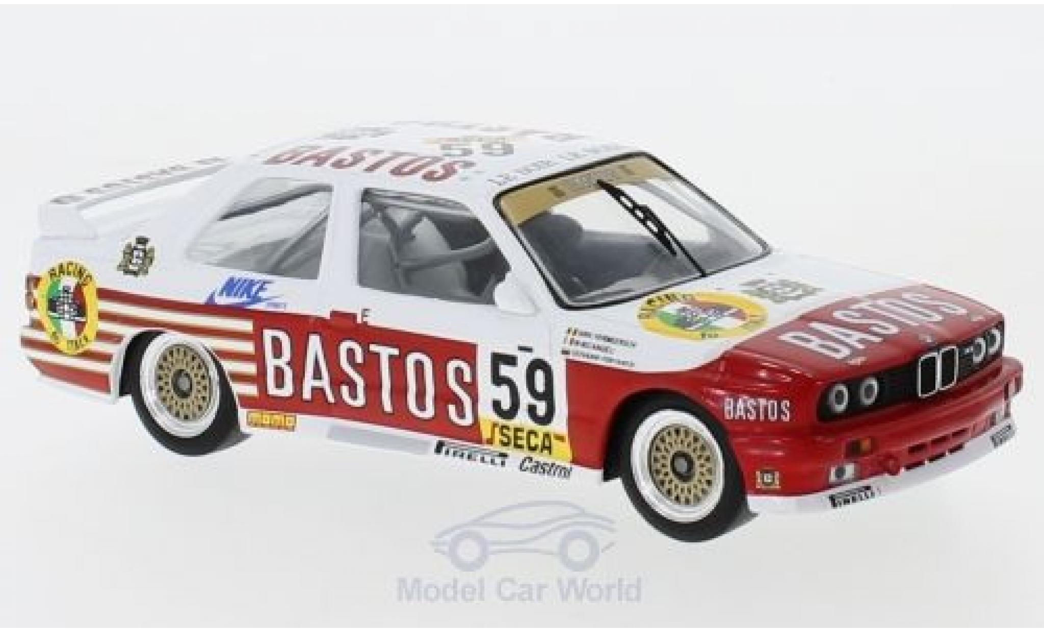 Bmw M3 1/43 IXO (E30) No.59 Bastos WTCC 24h Spa 1987 D.Vermeersch/G.Fontanesi/M.Micangeli