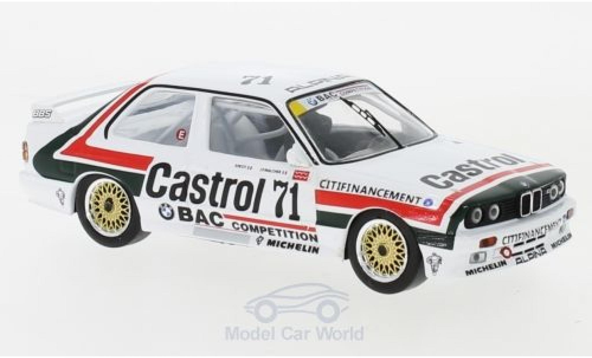 Bmw M3 1/43 IXO (E30) No.71 Castrol ETCC 1988 J.P.Malcher/P.Petit