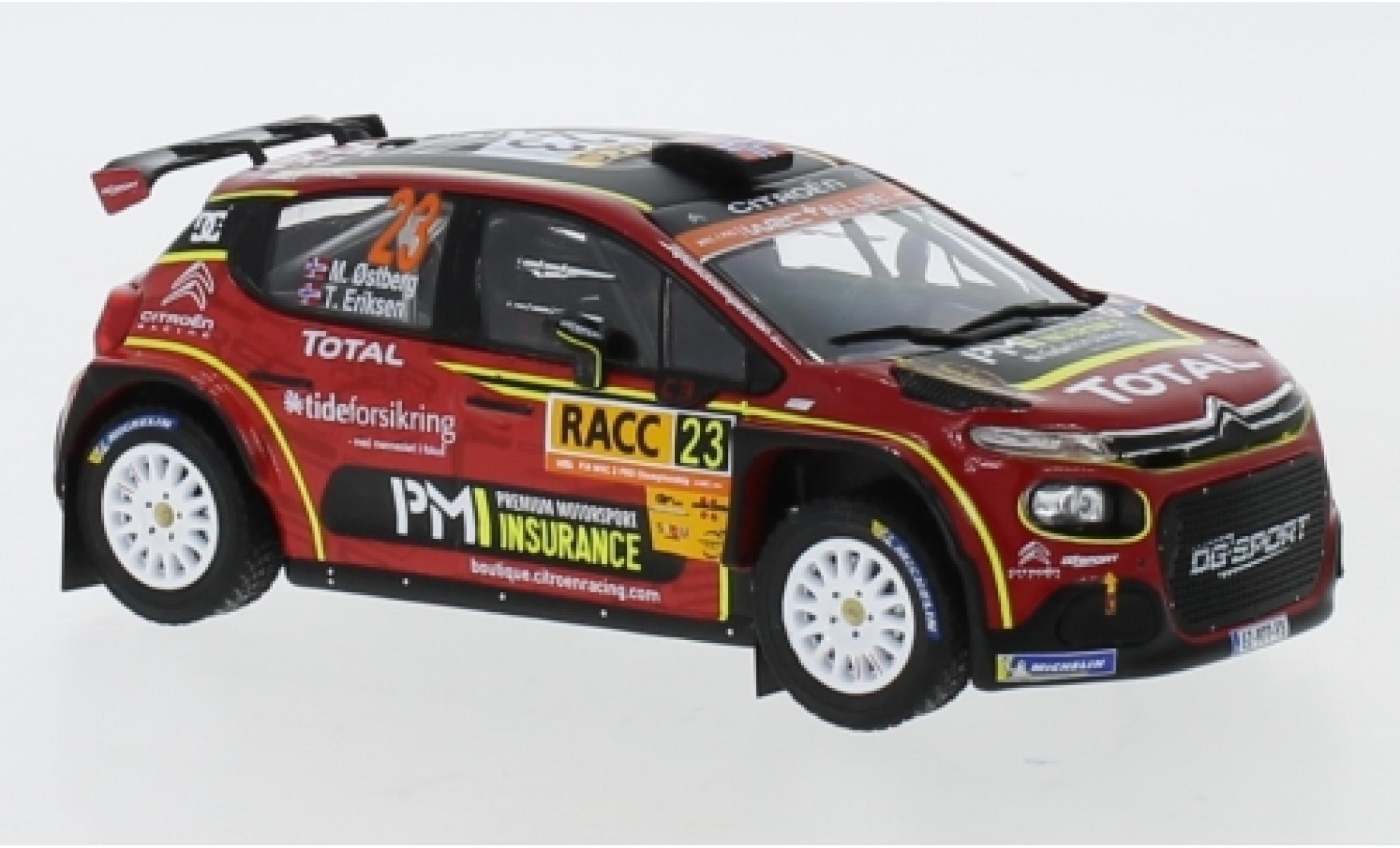 Citroen C3 1/43 IXO R5 No.23 Racing Total Rally Catalunya 2019 M.Ostberg/T.Eriksen