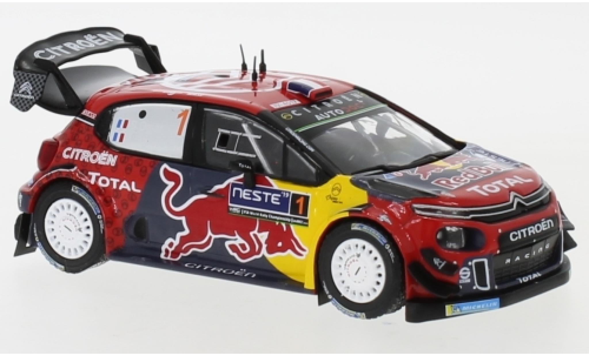 Citroen C3 1/43 IXO WRC No.1 Red Bull WRC Rallye Finnland 2019 S.Ogier/J.Ingrassia