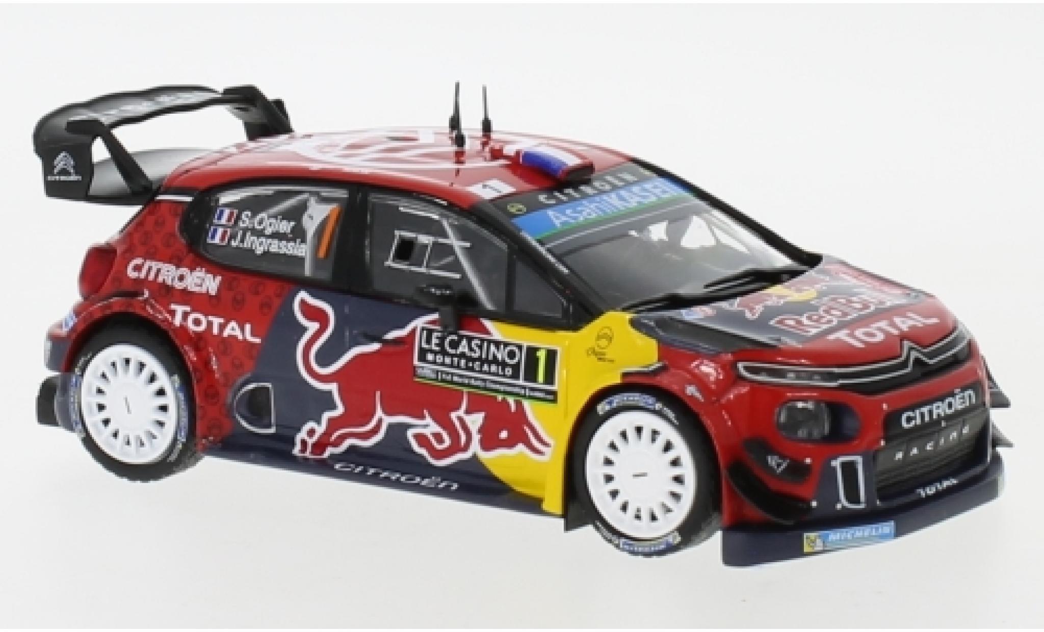 Citroen C3 1/43 IXO WRC No.1 Red Bull WRC Rallye Monte Carlo 2019 S.Ogier/J.Ingrassia