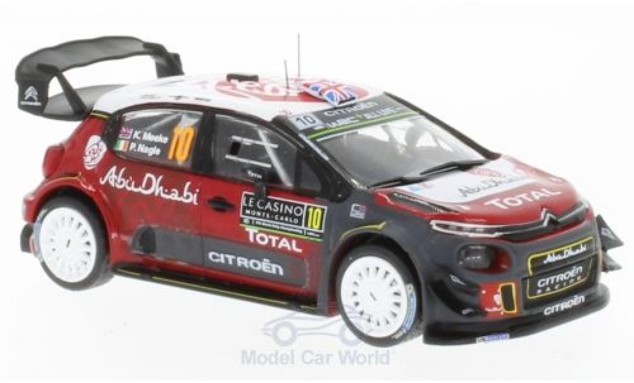 Citroen C3 1/43 IXO WRC No.10 Rallye WM Rallye Monte Carlo 2018 K.Meeke/P.Nagle