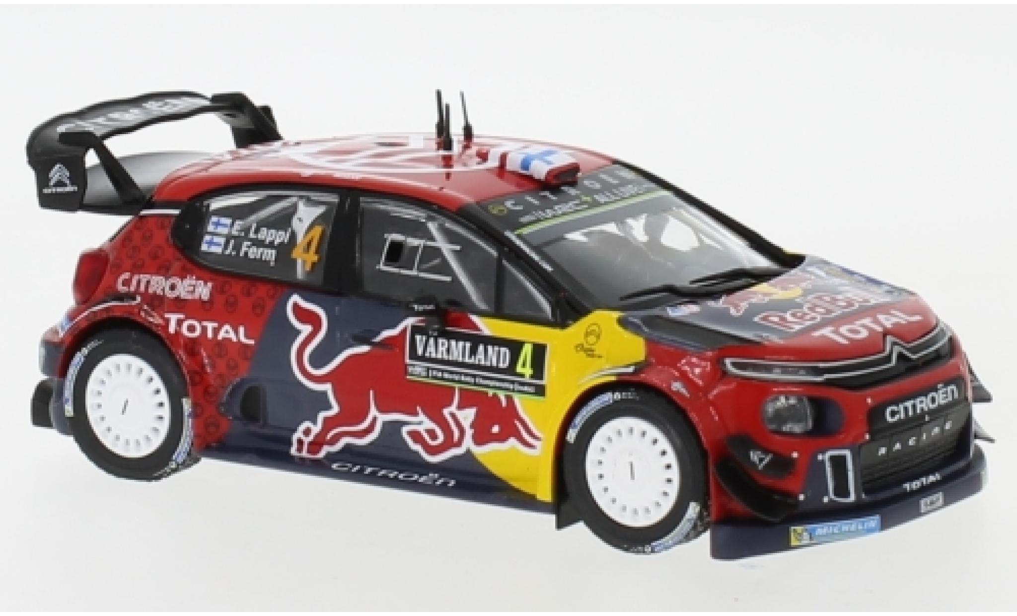 Citroen C3 1/43 IXO WRC No.4 Red Bull WRC Rallye Schweden 2019 E.Lappi/J.Ferm
