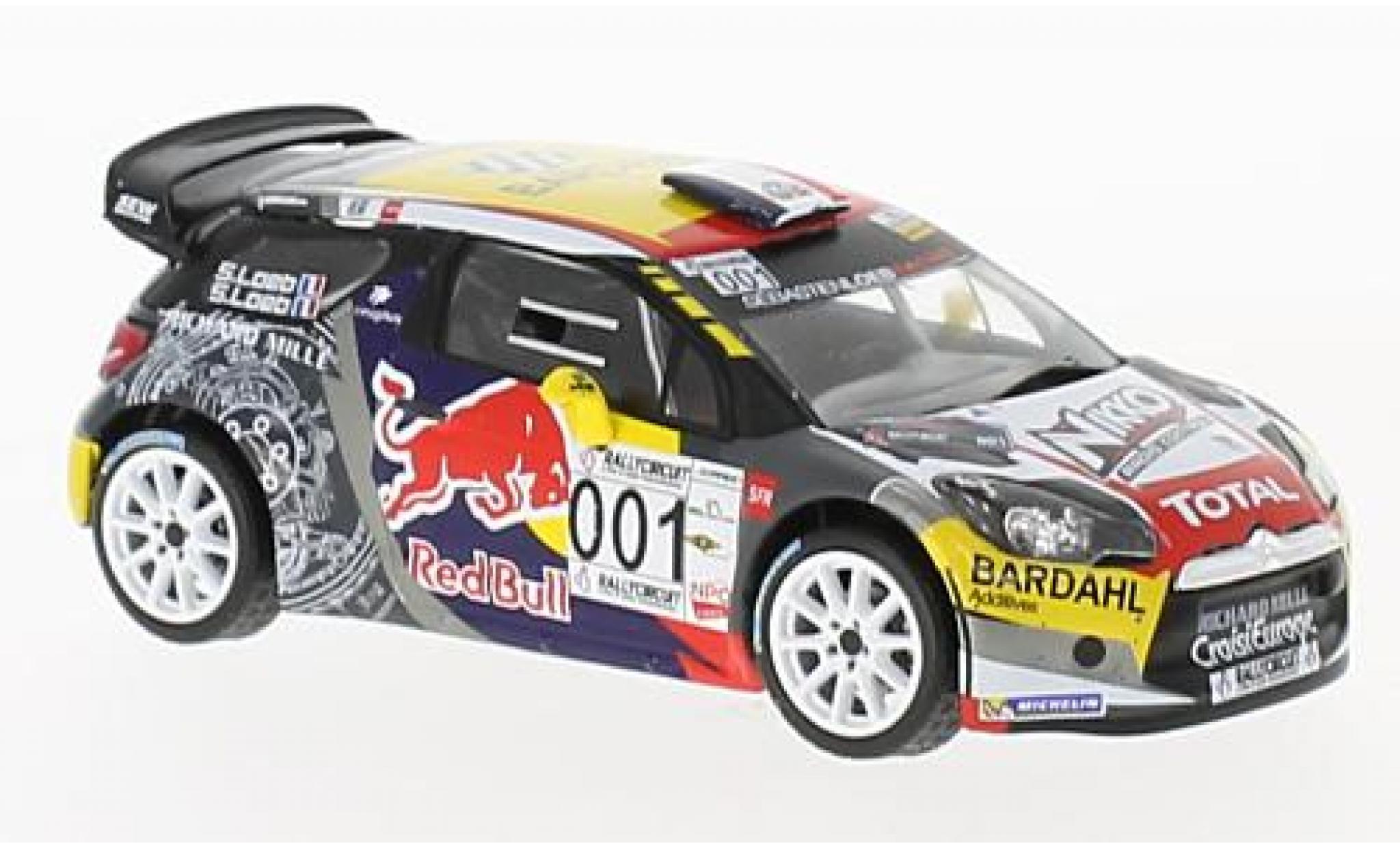 DS Automobiles DS3 1/43 IXO Citroen WRC No.001 Paul Ricard 2016 S.Loeb/S.Loeb