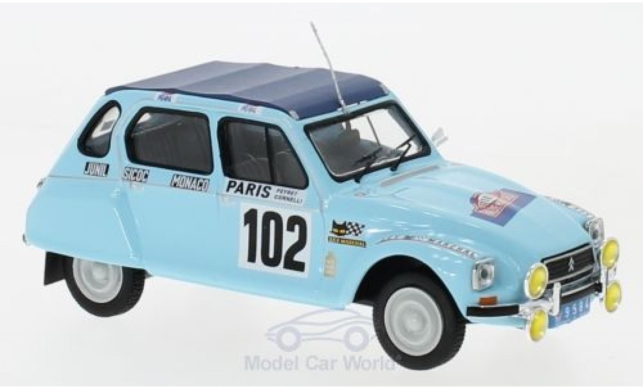Citroen Dyane 1/43 IXO No.102 Rallye WM Rally Monte Carlo 1976 M.Peyret/J.J.Cornelli