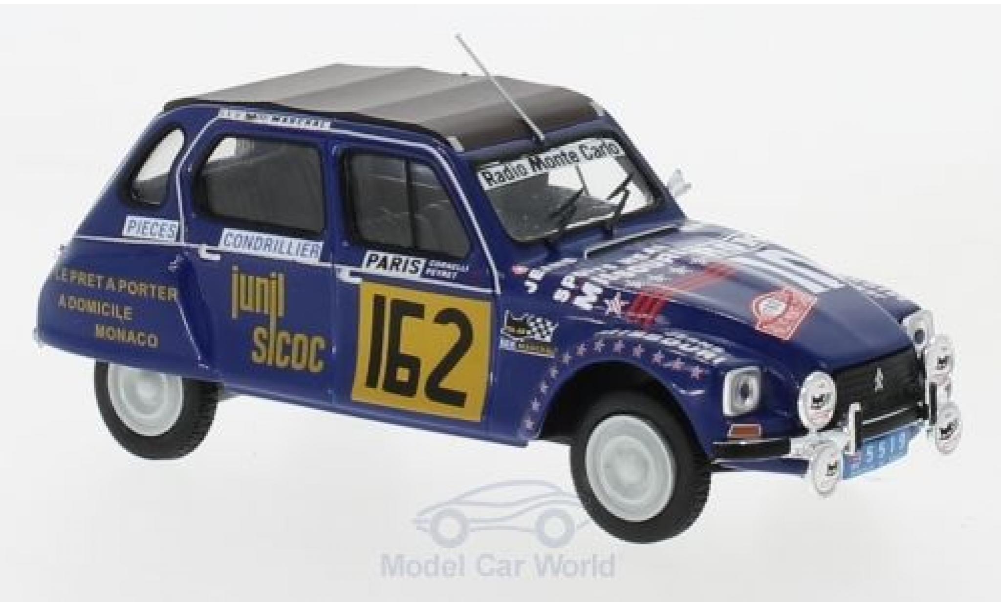 Citroen Dyane 1/43 IXO No.162 Rallye WM Rally Monte Carlo 1978 M.Peyret/J.J.Cornelli