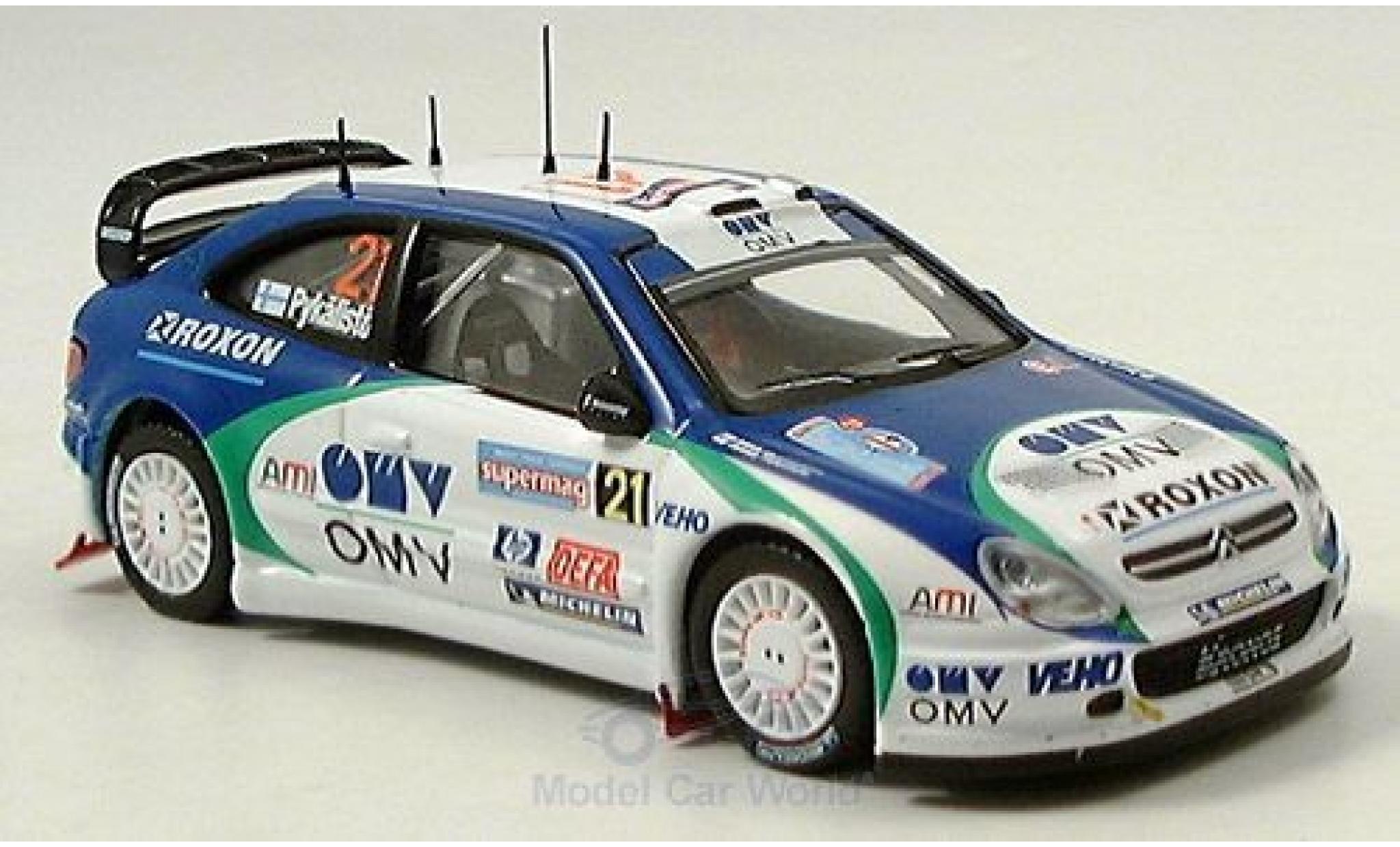 Citroen Xsara 1/43 IXO WRC No.21 Rallye Italien 2005 Pykalisto/Ovaskeinen
