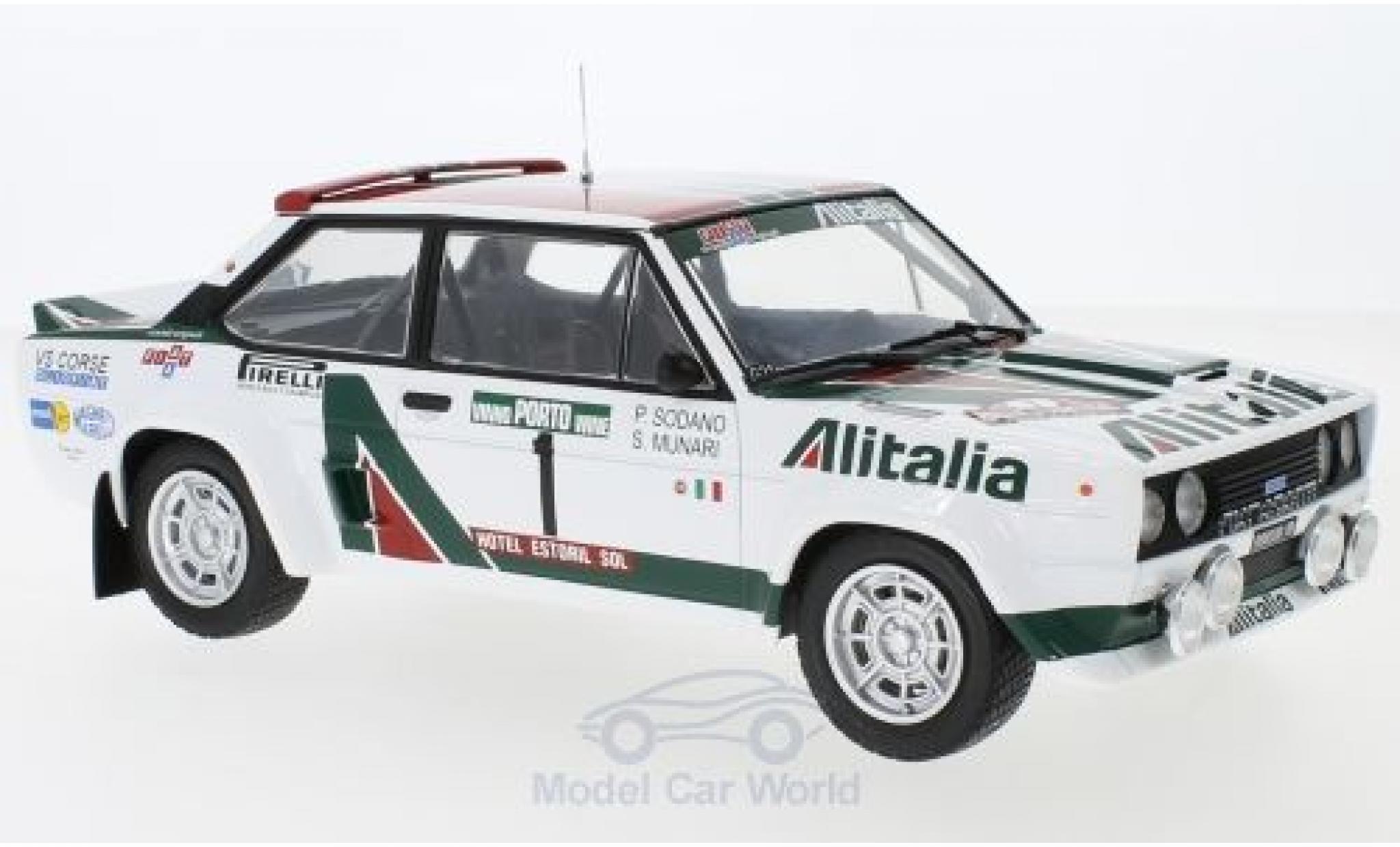 Fiat 131 1/18 IXO Abarth No.1 Alitalia Rallye WM Rallye Portugal 1978 S.Munari/P.Sodano