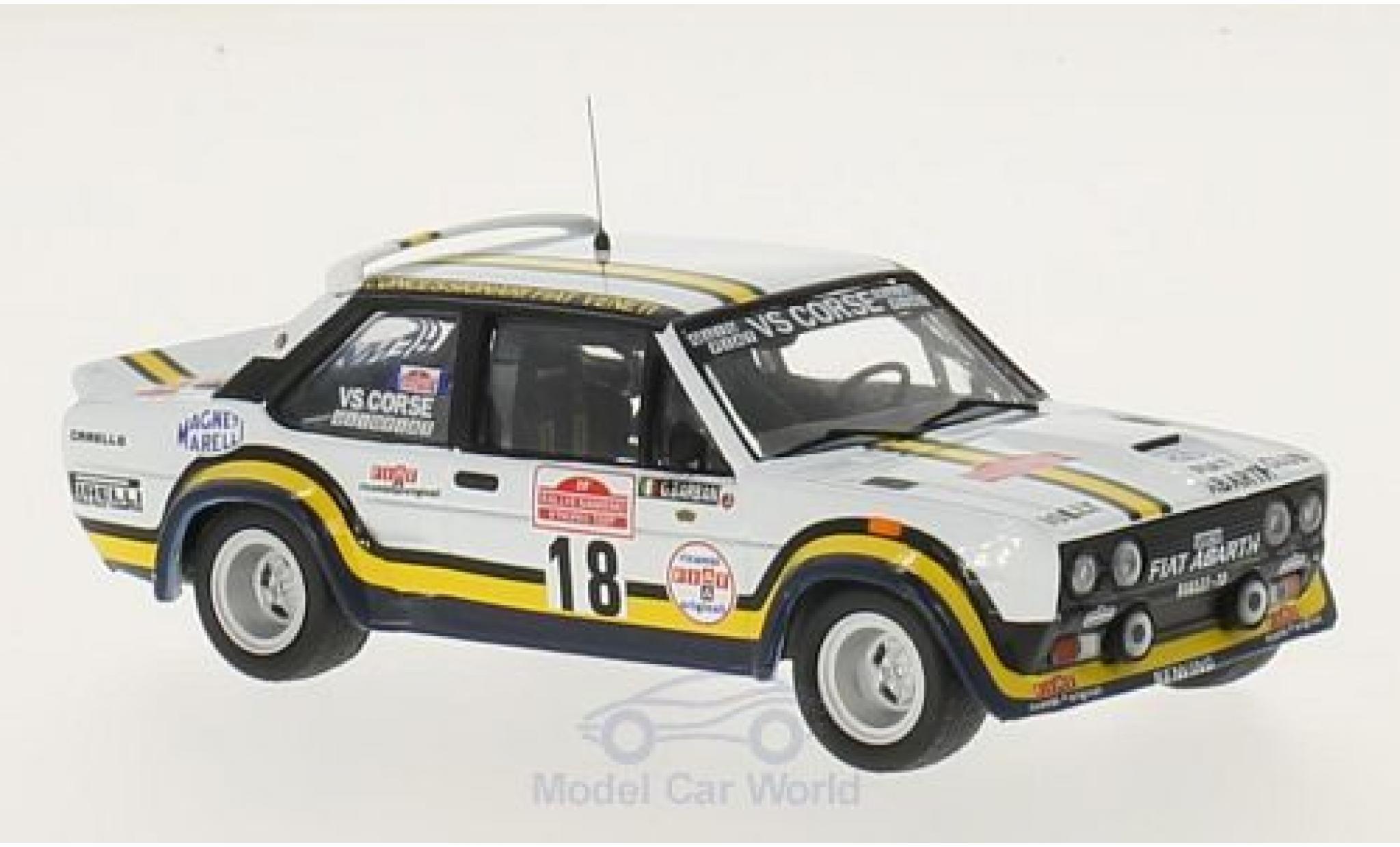 Fiat 131 1/43 IXO Abarth No.18 VS Corse Rallye WM Rallye Sanremo 1978 A.Pasetti/G.Barban