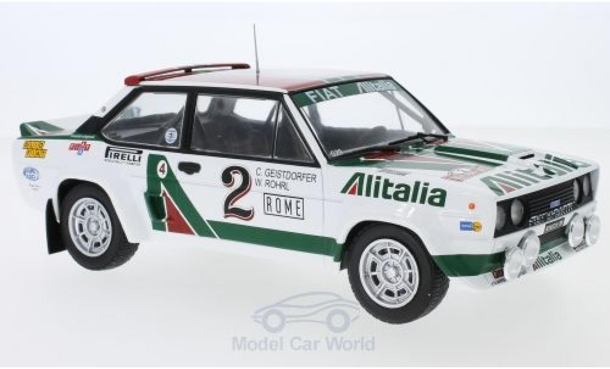 Fiat 131 1/18 IXO Abarth No.2 Alitalia Rallye WM Rally Monte Carlo 1978 W.Röhrl/C.Geistdörfer