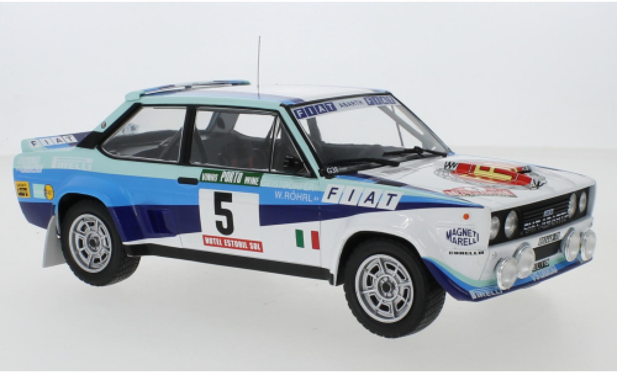 Fiat 131 1/18 IXO Abarth No.5 Rallye WM Rally Portugal 1980 W.Röhrl/C.Geistdörfer