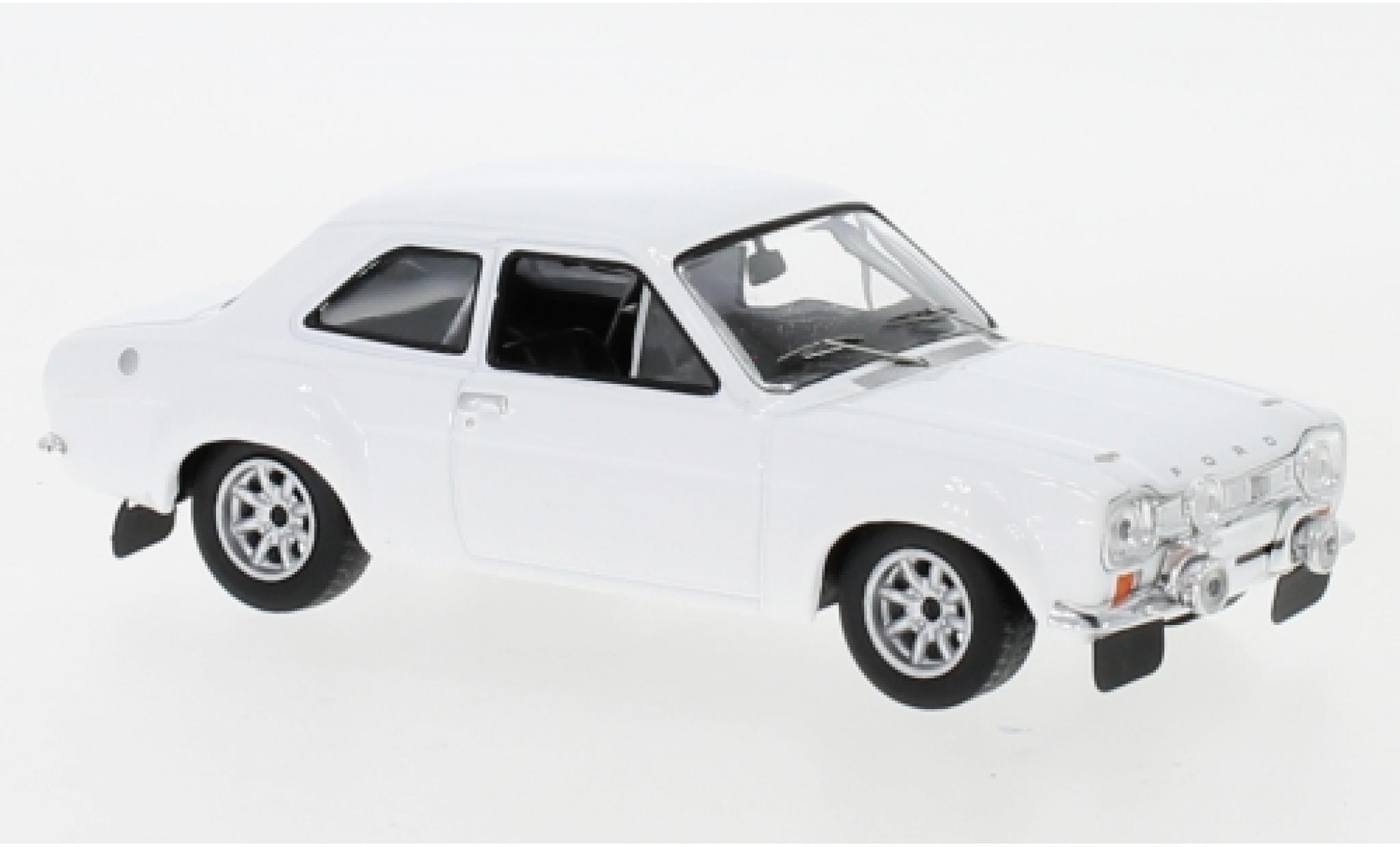 Ford Escort 1/43 IXO MK I weiss 1971 Plain Body Version y compris les Zusatzteile