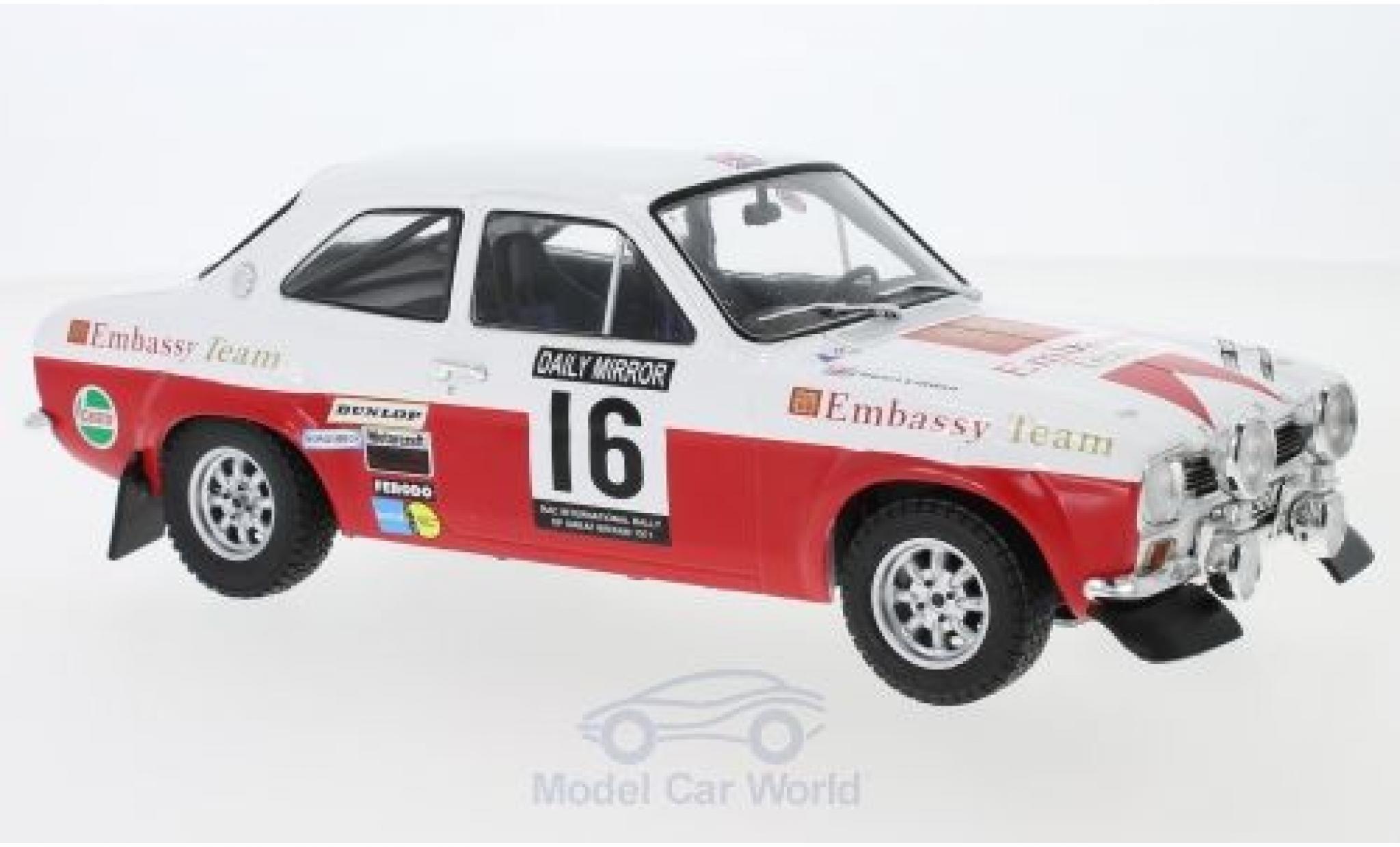Ford Escort 1/18 IXO MK1 RS 1600 No.16 Embassy RAC Rallye 1971 T.Makinen/H.Liddon