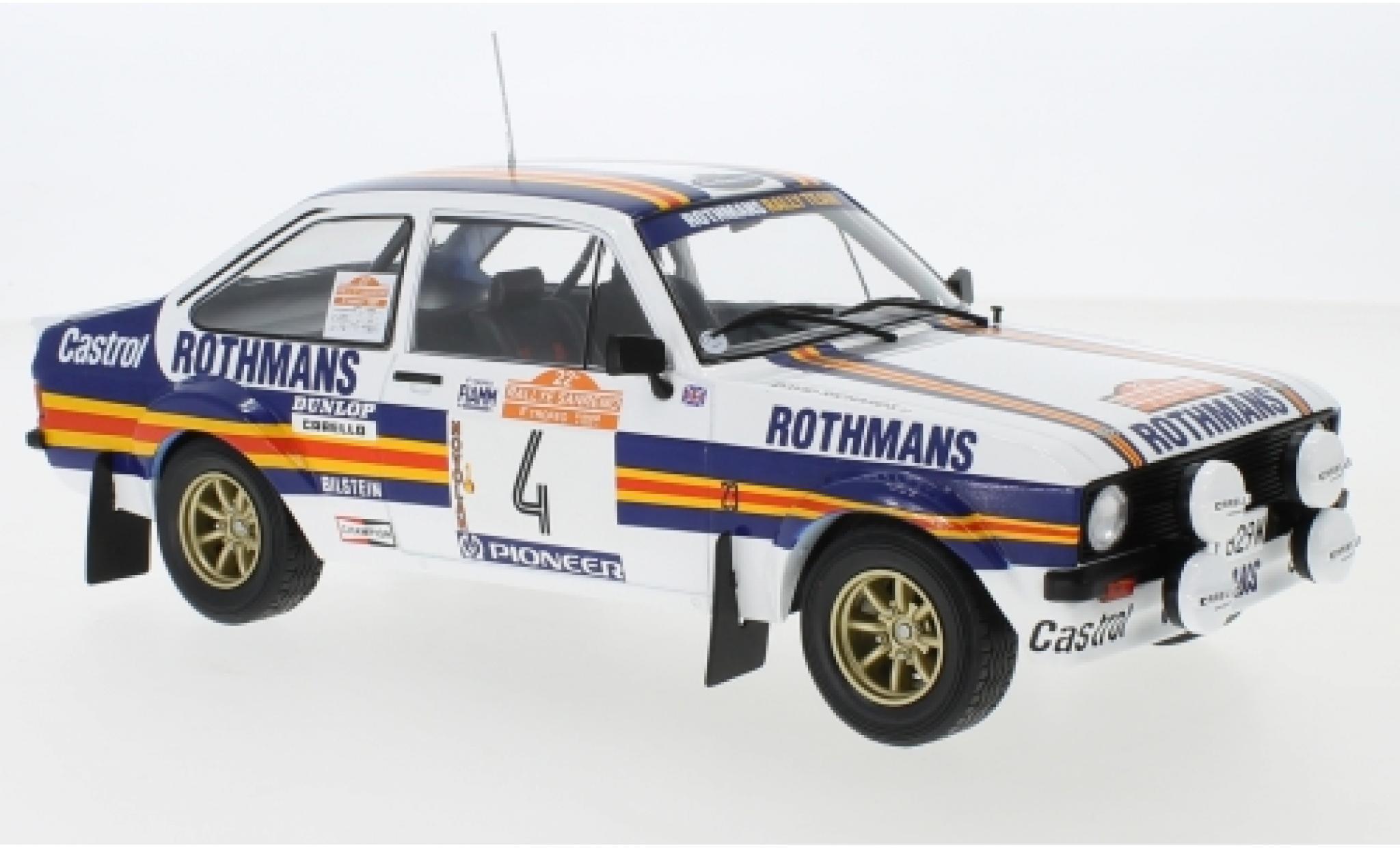 Ford Escort 1/18 IXO MKII RS 1800 No.4 Rothmans Rallye WM Rally San Remo 1980 A.Vatanen/D.Richards