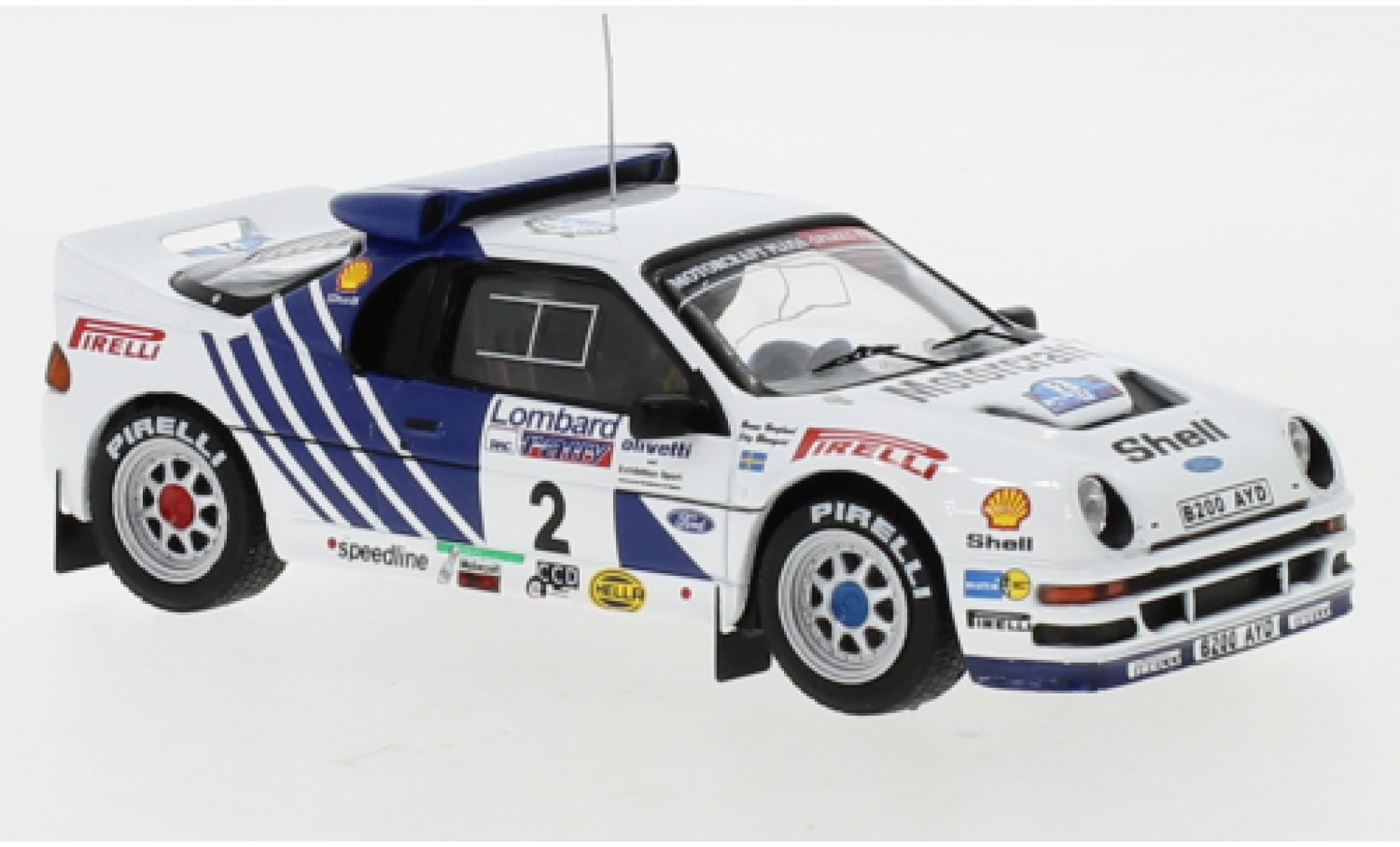 Ford RS 200 1/43 IXO RS200 No.2 Rallye WM RAC Rally 1986 S.Blomqvist/B.Berglund