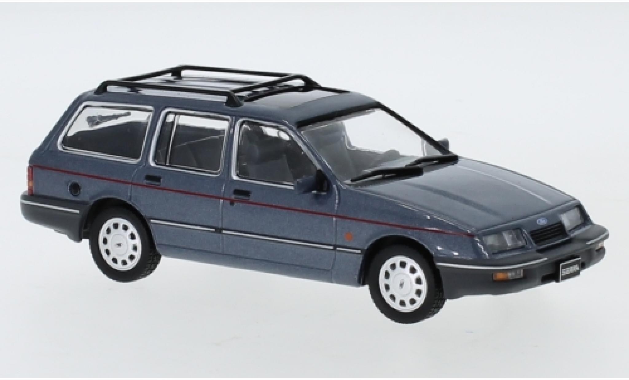 Ford Sierra 1/43 IXO Turnier Ghia metallise grise 1988