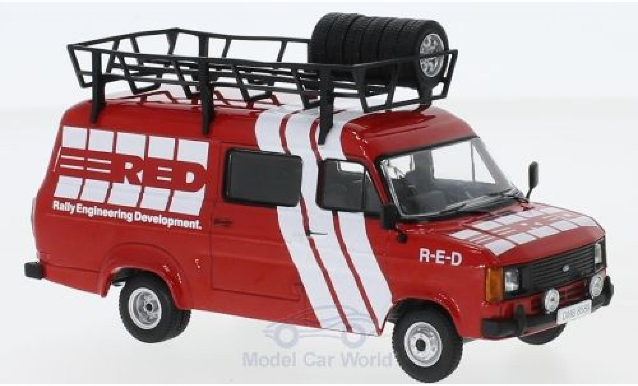 Ford Transit 1/43 IXO MKII 1985 Rally Assistance R-E-D