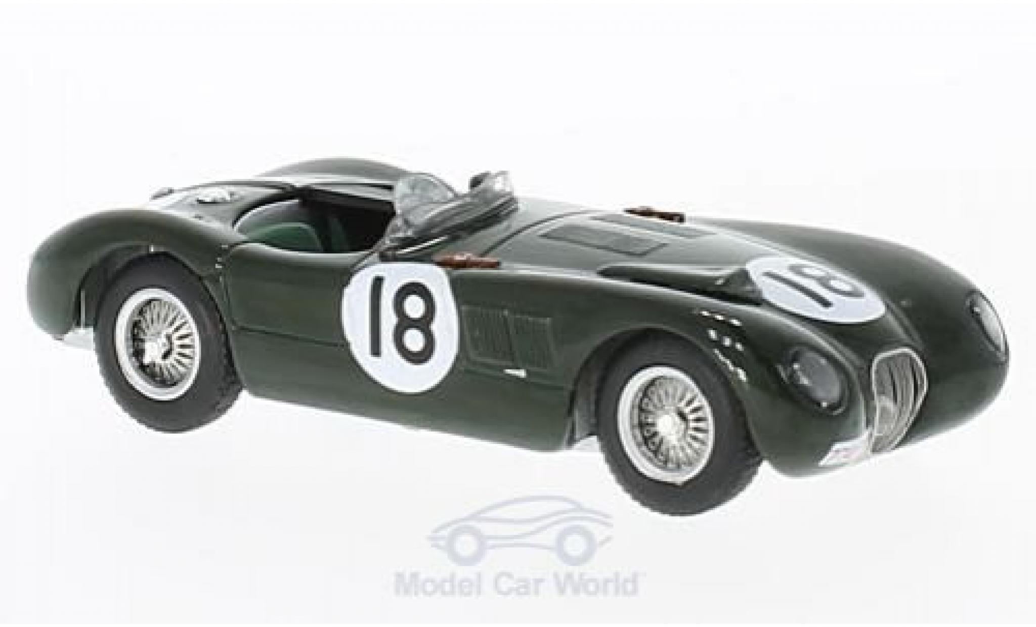 Jaguar XK 8 1/43 IXO 120C RHD No.1 24h Le Mans 1953 T.Bolt/D.Hamilton