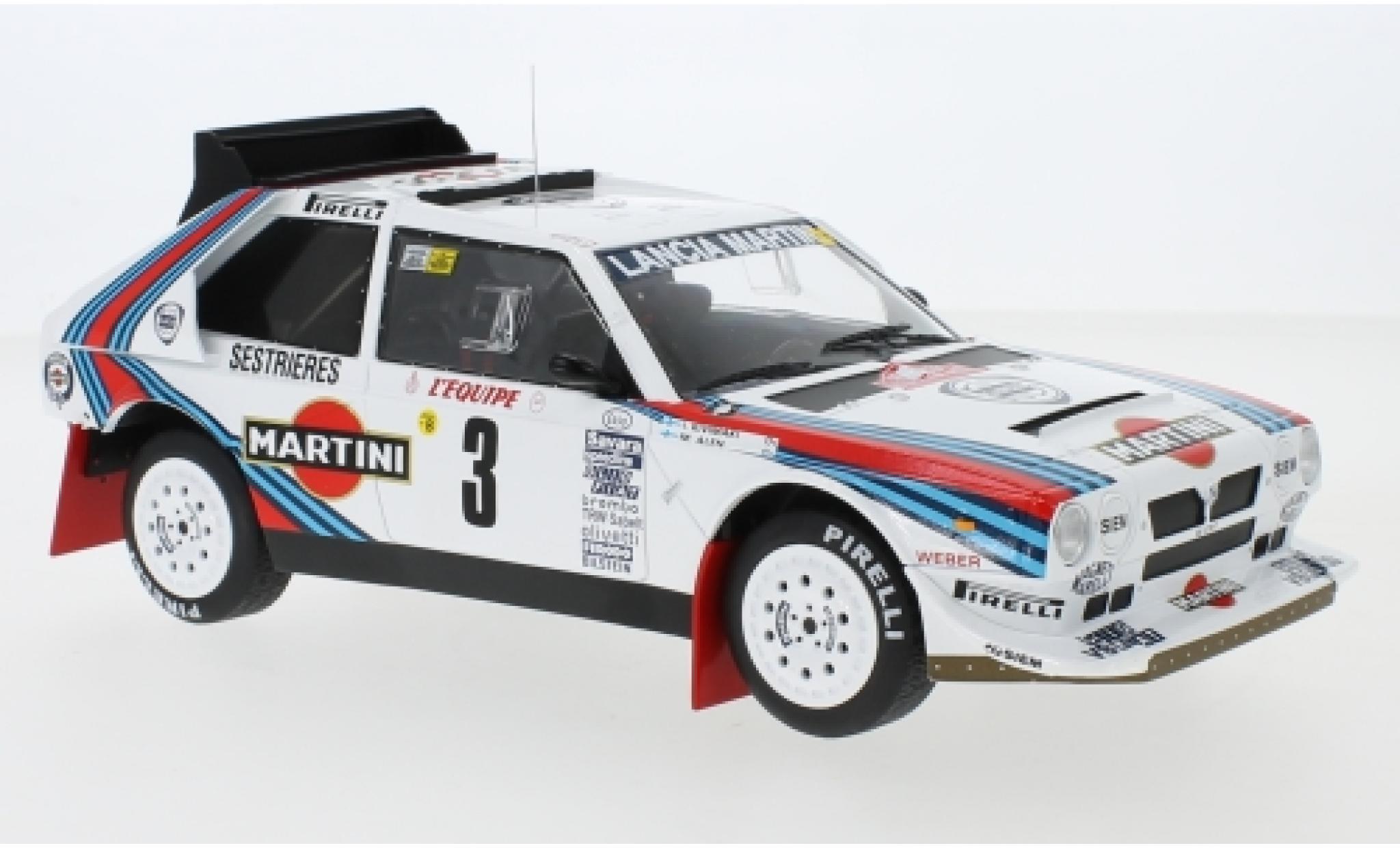 Lancia Delta 1/18 IXO S4 No.3 Martini Racing Martini Rally Monte Carlo 1986 M.Alen/I.Kivimäki