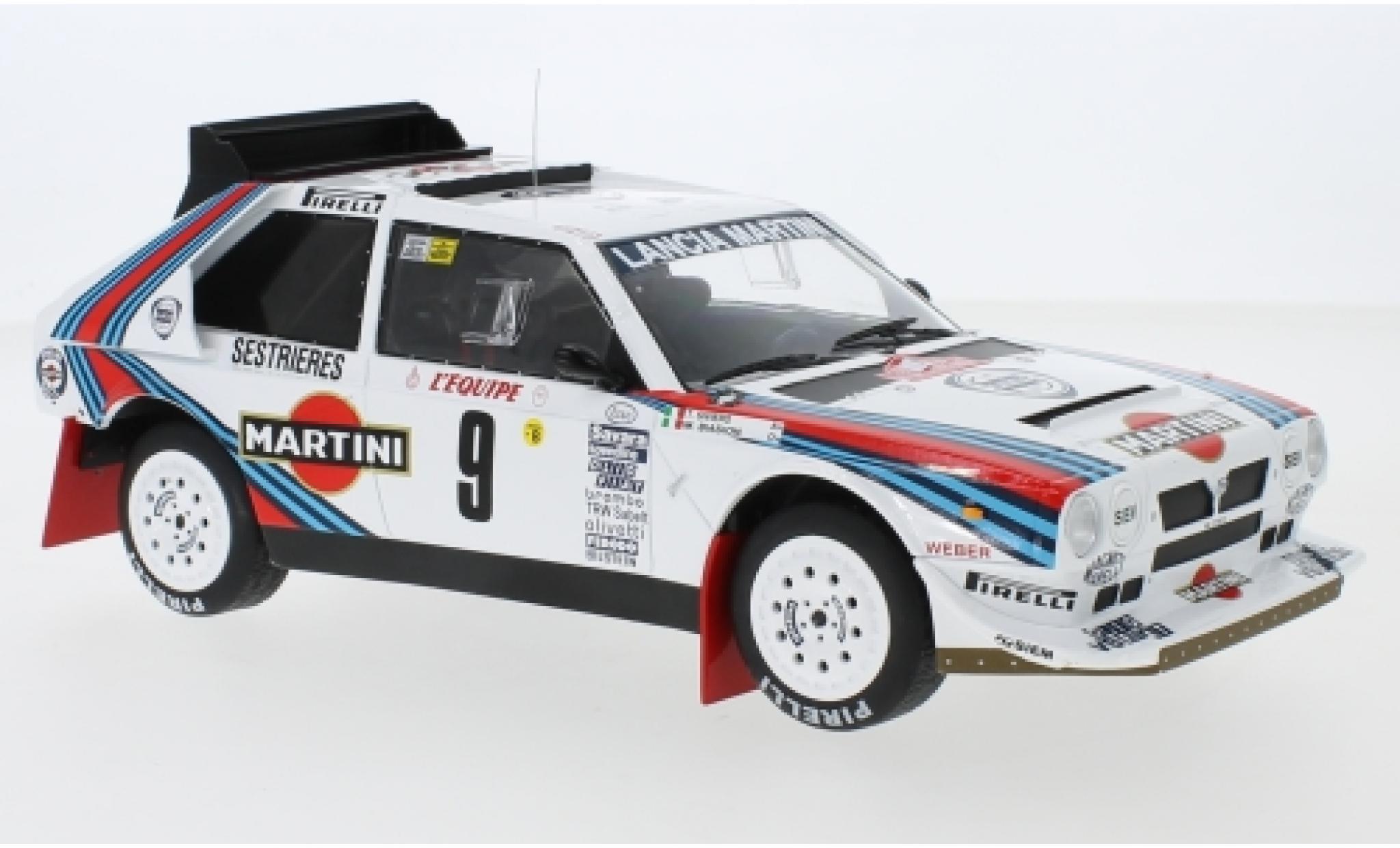 Lancia Delta 1/18 IXO S4 No.9 Martini Racing Martini Rally Monte Carlo 1986 M.Biasion/T.Siviero