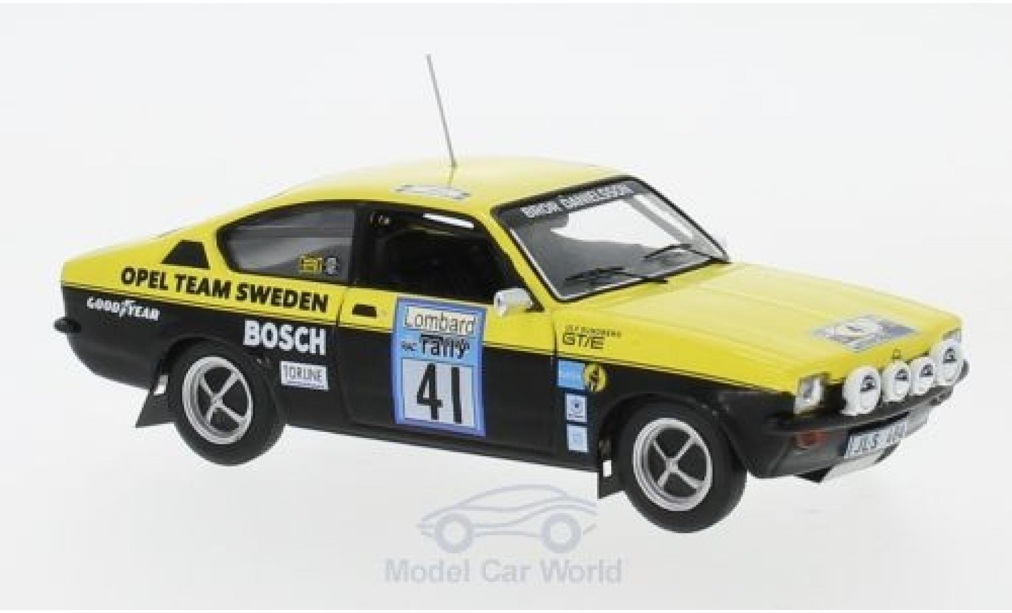 Opel Kadett GT 1/43 IXO C GT/E No.41 Team Sweden Rallye WM RAC Rallye 1976 B.Danielsson/U.Sundberg