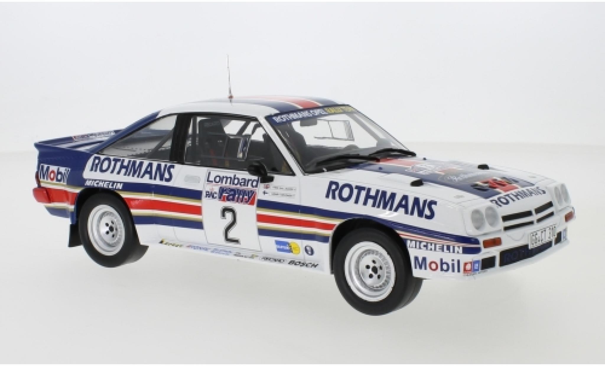 Opel Manta 1/18 IXO 400 No.2 Rothmans Rally Team Rothmans Rallye WM RAC Rallye 1983 H.Toivonen/F.Gallagher