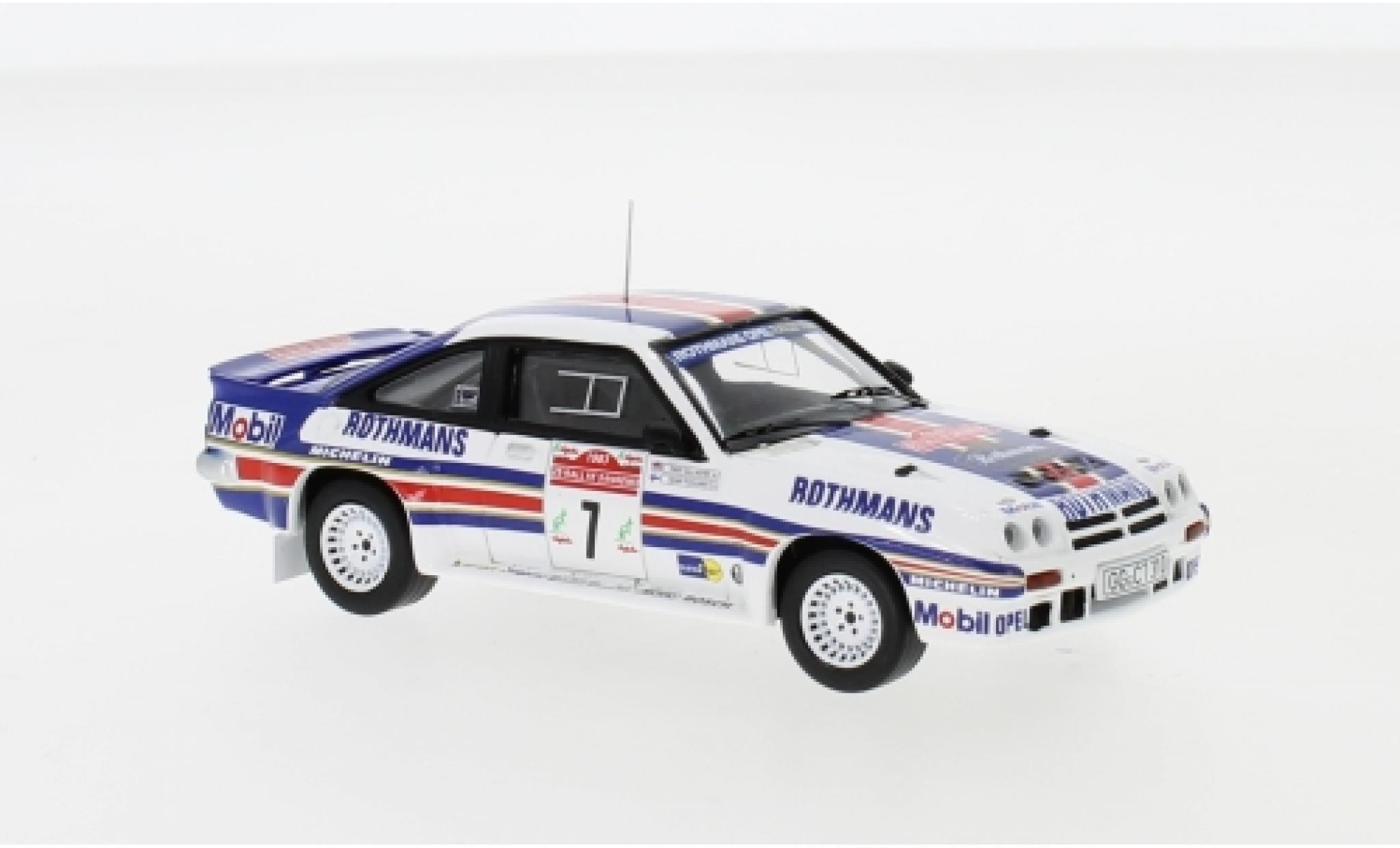 Opel Manta 1/43 IXO 400 No.7 Rothmans Rally Team Rothmans Rallye WM Rallye San Remo 1983 H.Toivonen/F.Gallagher