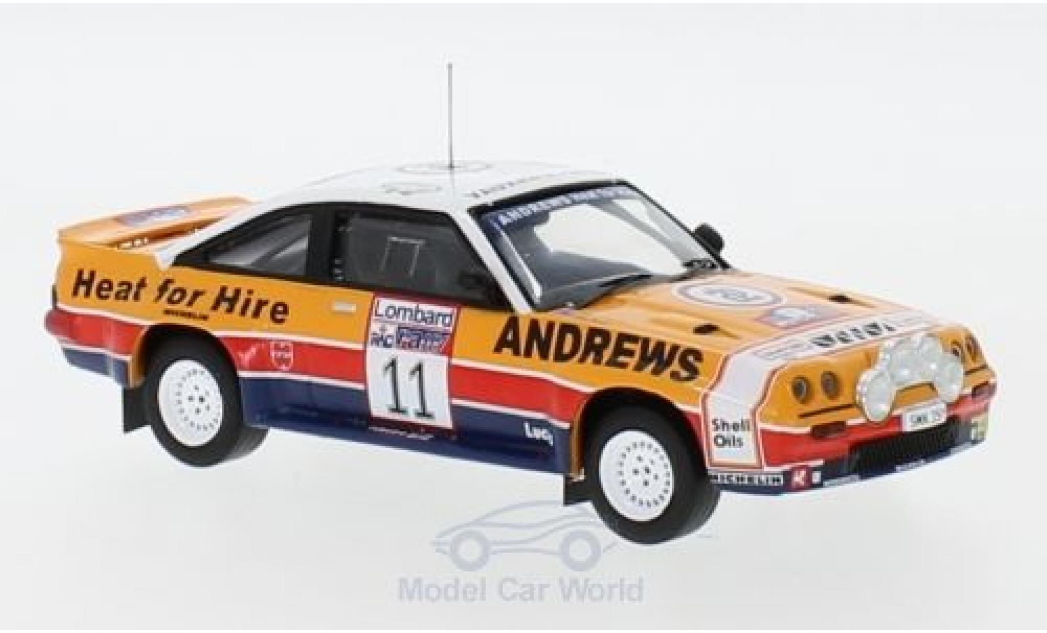 Opel Manta 1/43 IXO 400 RHD No.11 Rallye WM RAC Rallye 1985 R.Brookes/M.Broad