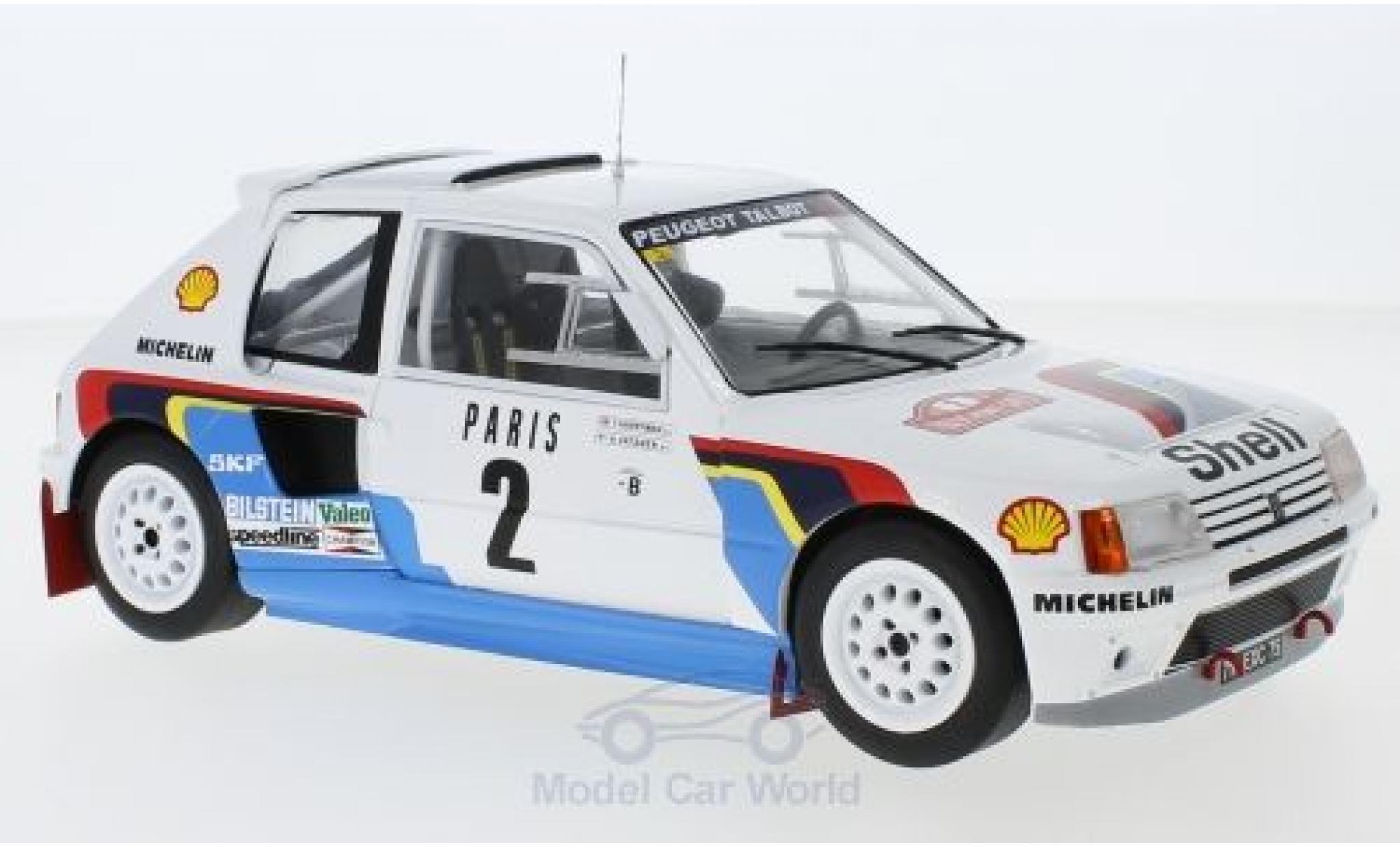 Peugeot 205 1/18 IXO T16 No.2 Rallye WM Rallye Monte Carlo 1985 A.Vatanen/T.Harryman
