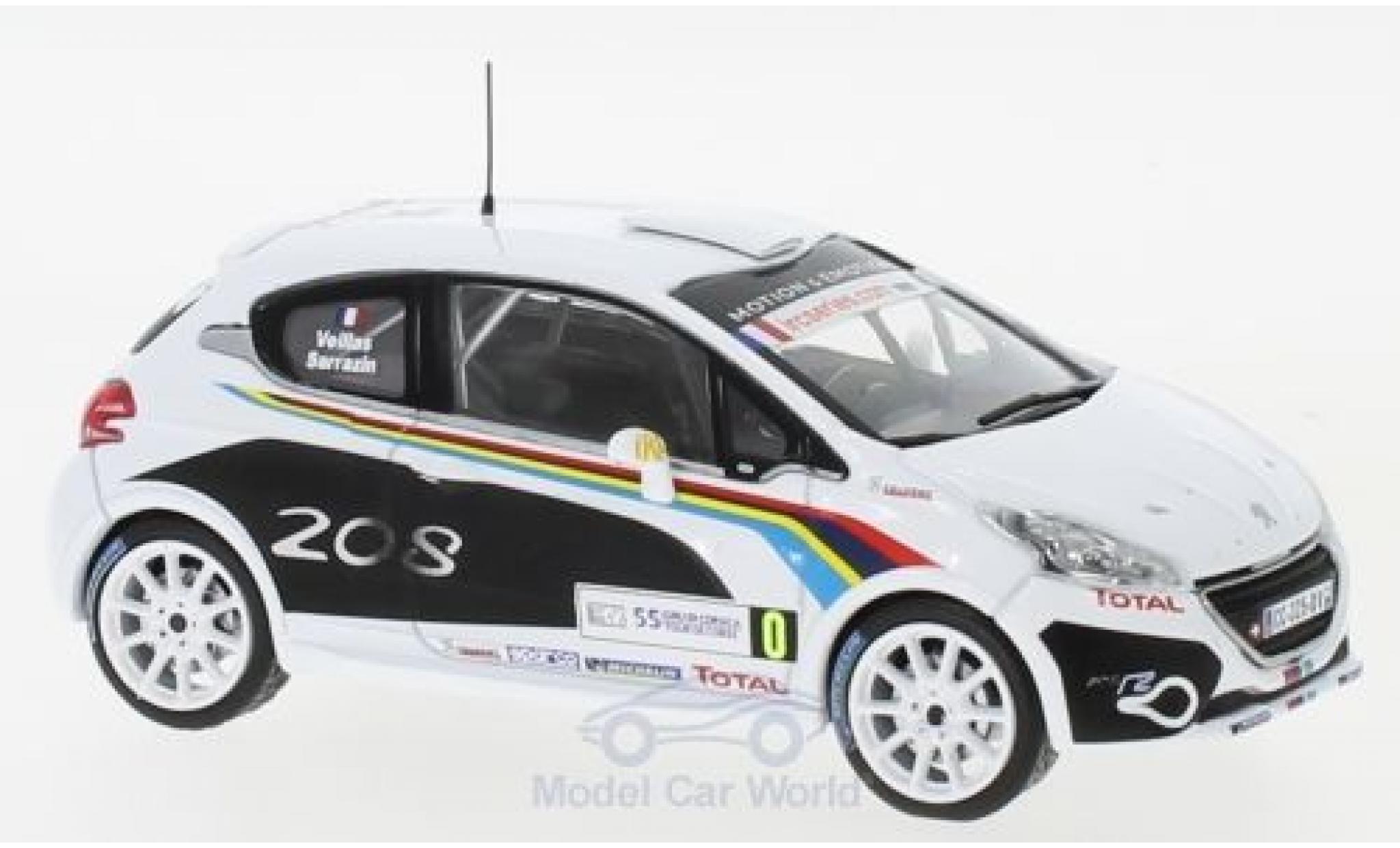 Peugeot 208 1/43 IXO R2 WRC WRC Tour de Corse 2012 S.Sarrazin/B.Veillas