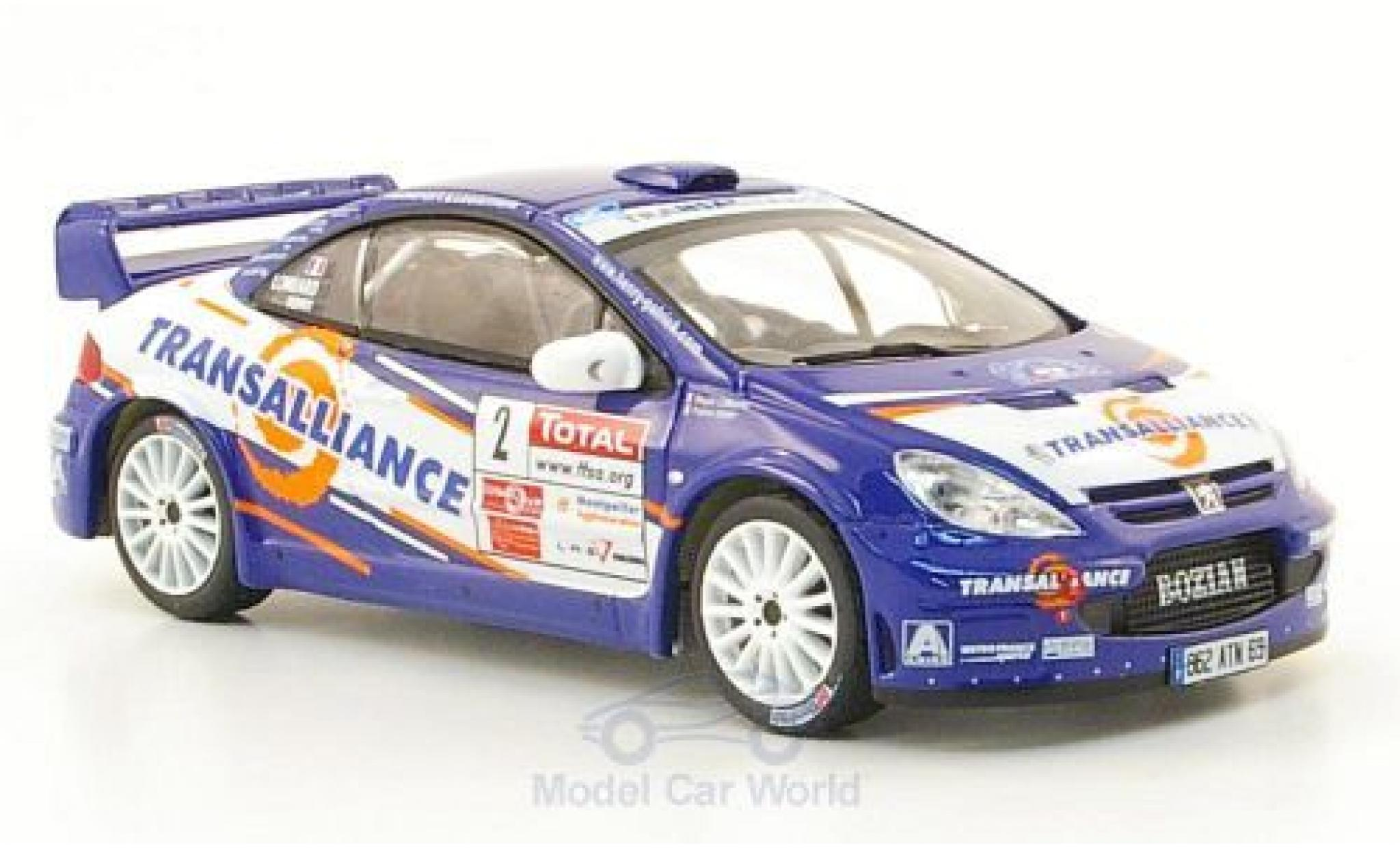 Peugeot 307 WRC 1/43 IXO WRC No.2 Transalliance Rally Cevennes 2007 P.Henry/M.Lombard