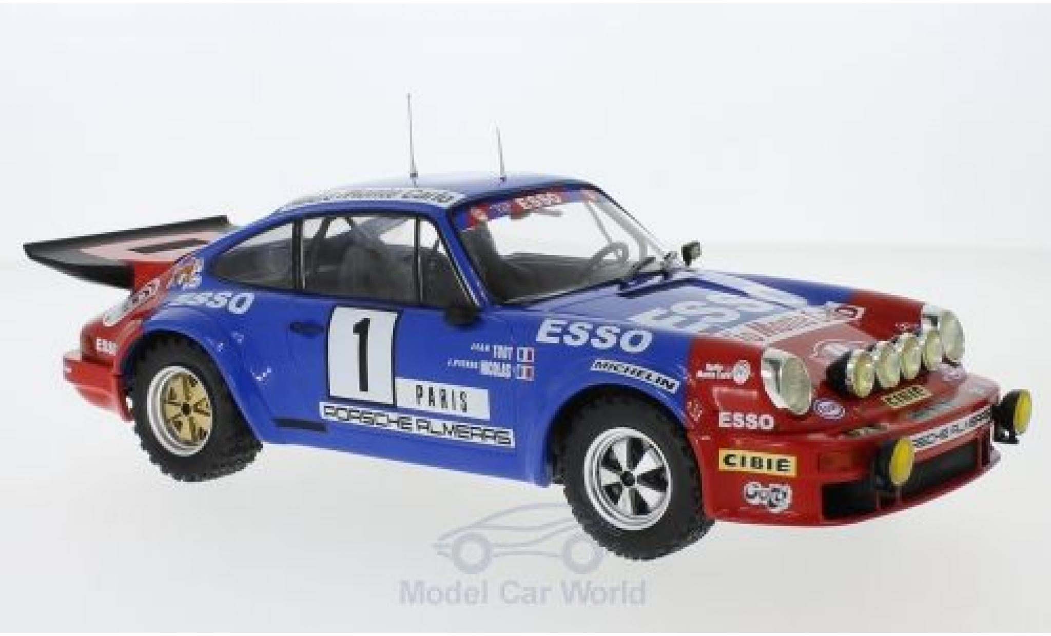 Porsche 911 1/18 IXO Carrera RS Gr.4 No.1 Almeras Esso Rallye WM Rally Monte Carlo 1979 J.P.Nicolas/J.Todt