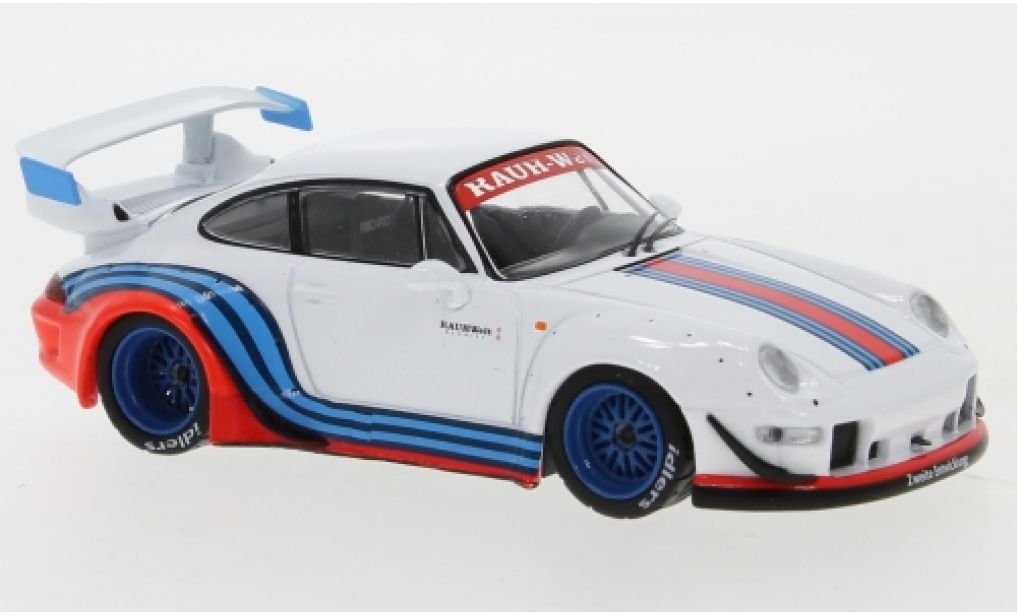 Porsche 993 RWB 1/43 IXO 911  blanche/Dekor RAUH-Welt