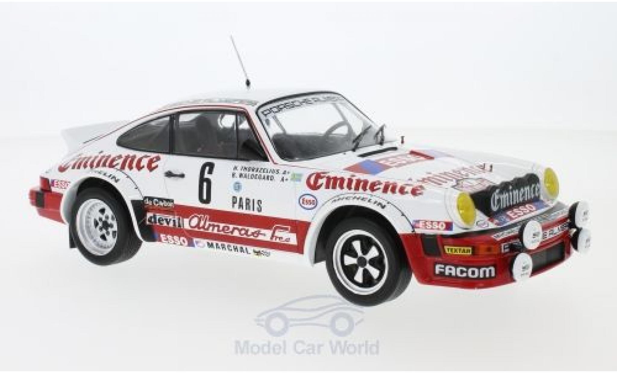 Porsche 930 SC 1/18 IXO SC No.6 Almeras Eminence Rallye WM Rally Monte Carlo 1982 B.Waldegard/H.Thorszelius
