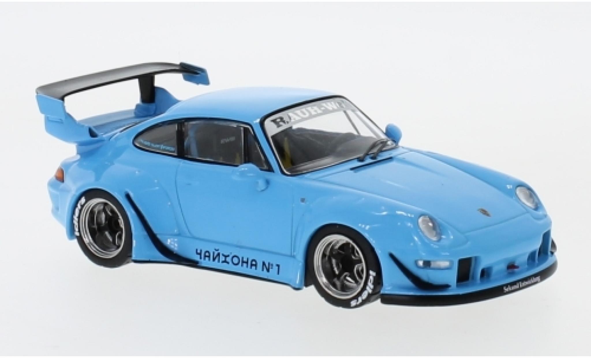 Porsche 993 RWB 1/43 IXO bleue