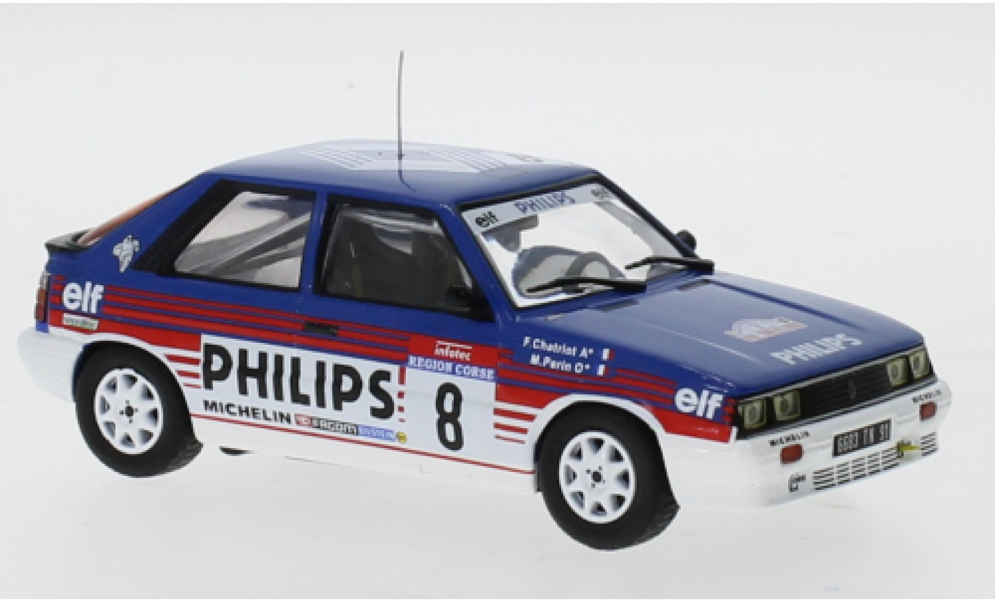 Renault 11 1/43 IXO Turbo No.8 Philips Rallye WM Tour de Corse 1987 F.Chatriot/M.Perin