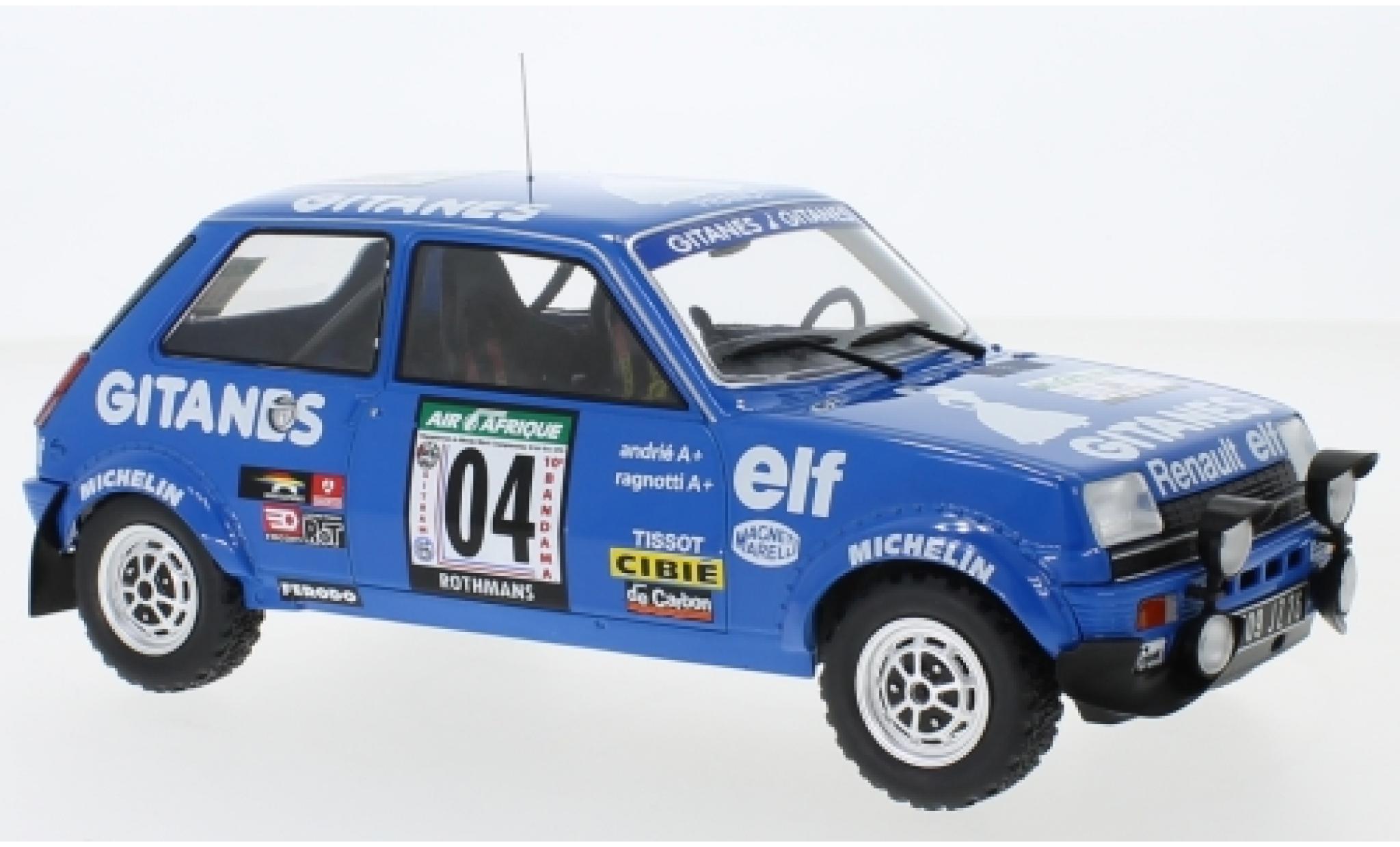 Renault 5 1/18 IXO Alpine No.4 Gitanes Rallye Bandama 1978 J.Ragnotti/J-M.Andrie