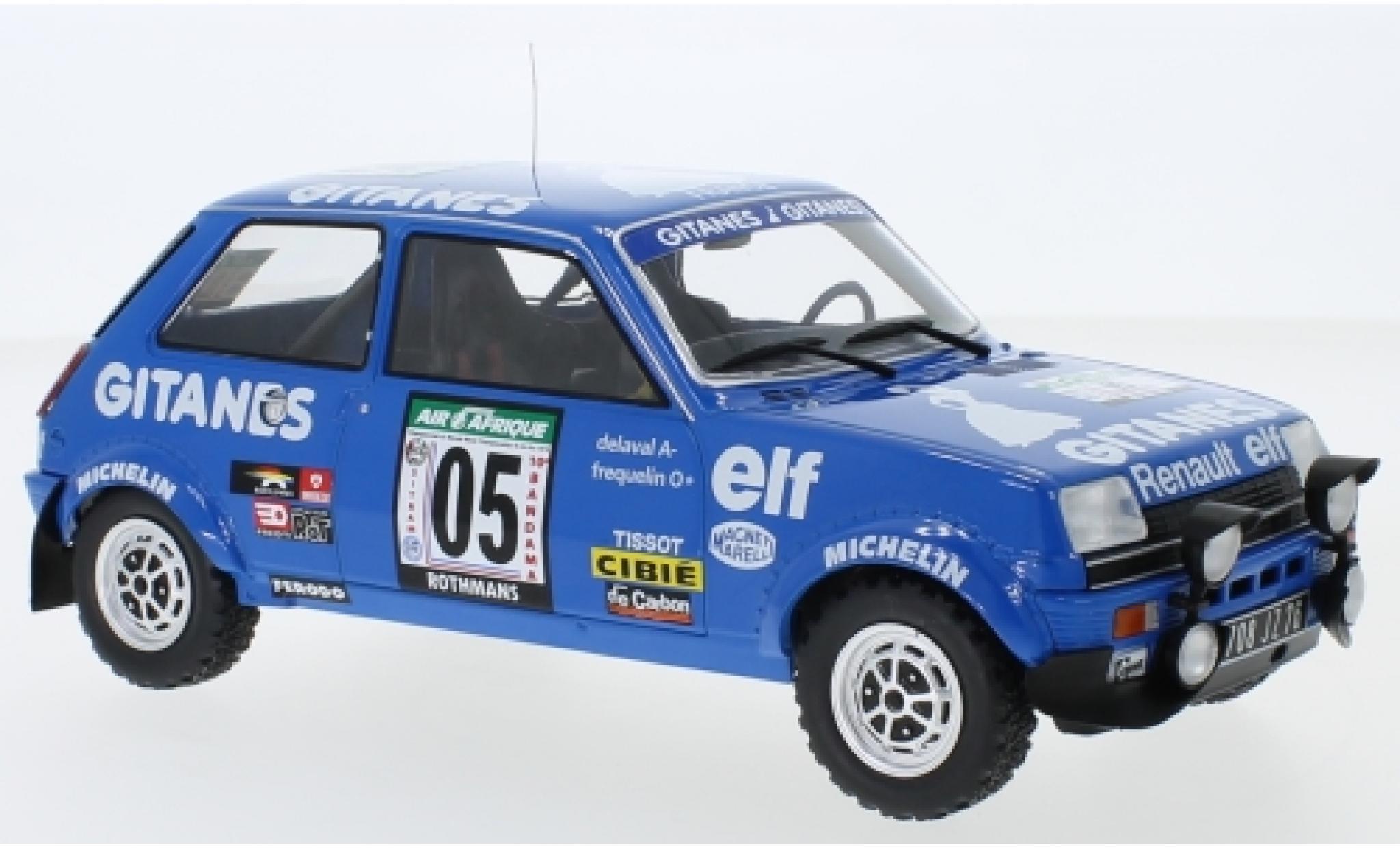 Renault 5 1/18 IXO Alpine No. Gitanes Rallye Bandama 1978 G.Frequelin/J.Delaval