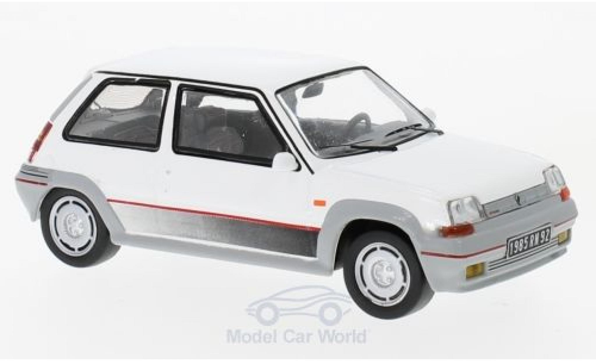 Renault 5 GT Turbo 1/43 IXO bianco 1985