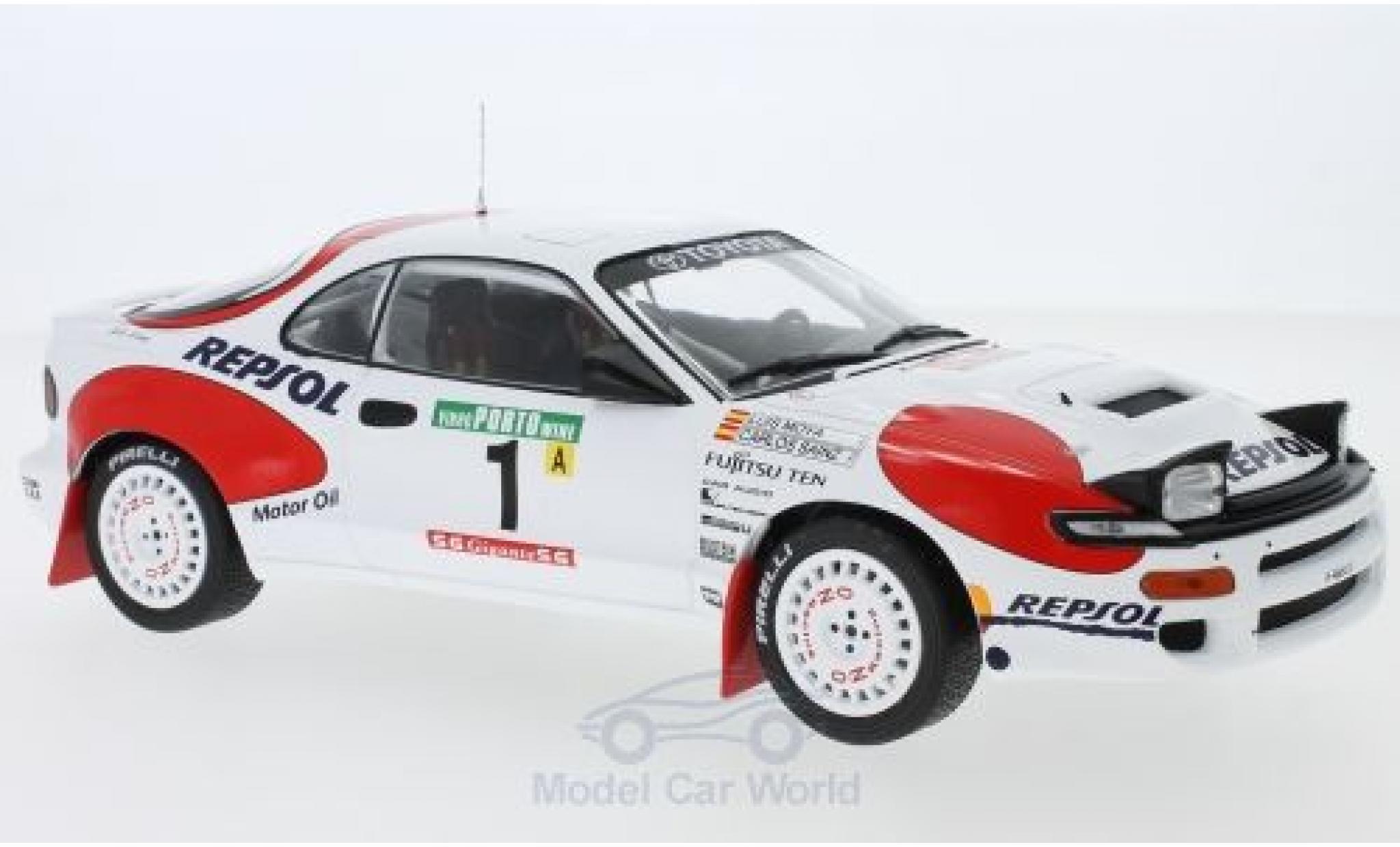 Toyota Celica 1/18 IXO GT-Four ST185 No.1 Team Europe Rallye WM Rallye Portugal 1992 C.Sainz/L.Moya