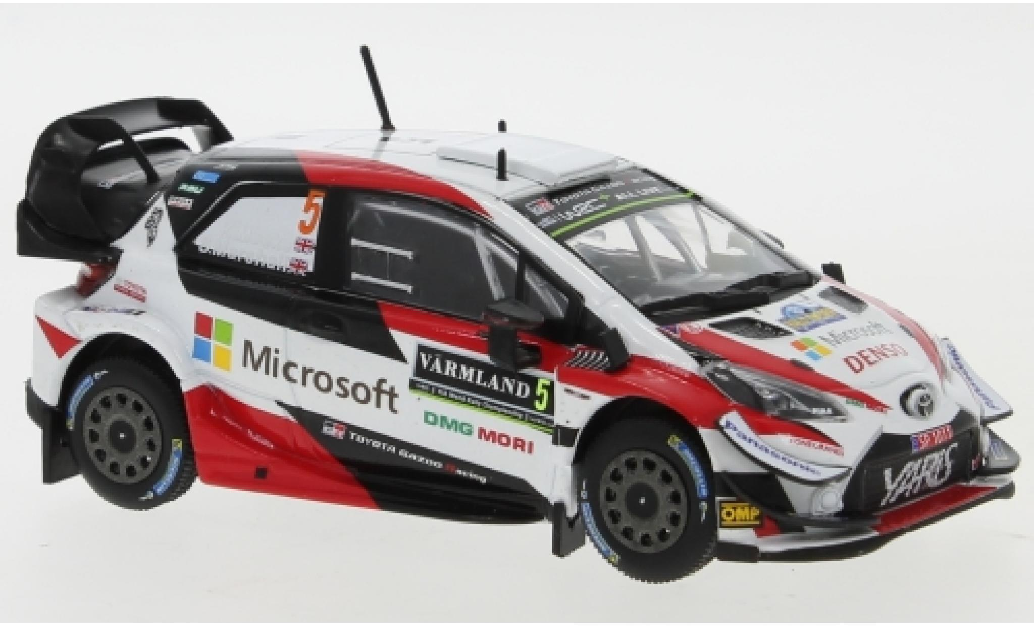 Toyota Yaris 1/43 IXO WRC No.5 Gazoo Racing Microsoft WRC Rally Schweden 2019 K.Meeke/S.Marshall