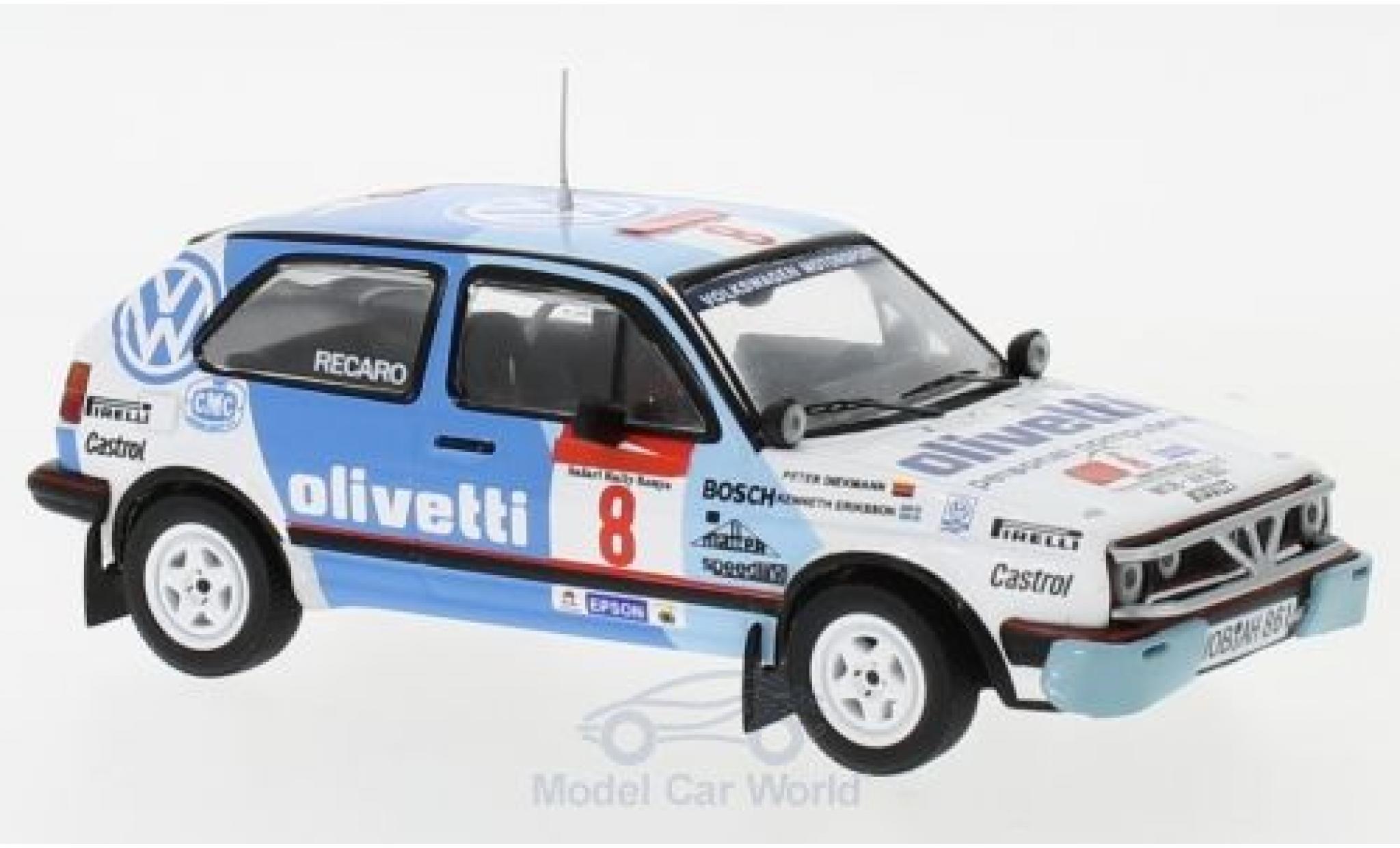 Volkswagen Golf 1/43 IXO II GTI 16V No.8 Motorsport Rallye WM Safari Rallye 1987 M.Ericsson/P.Diekmann