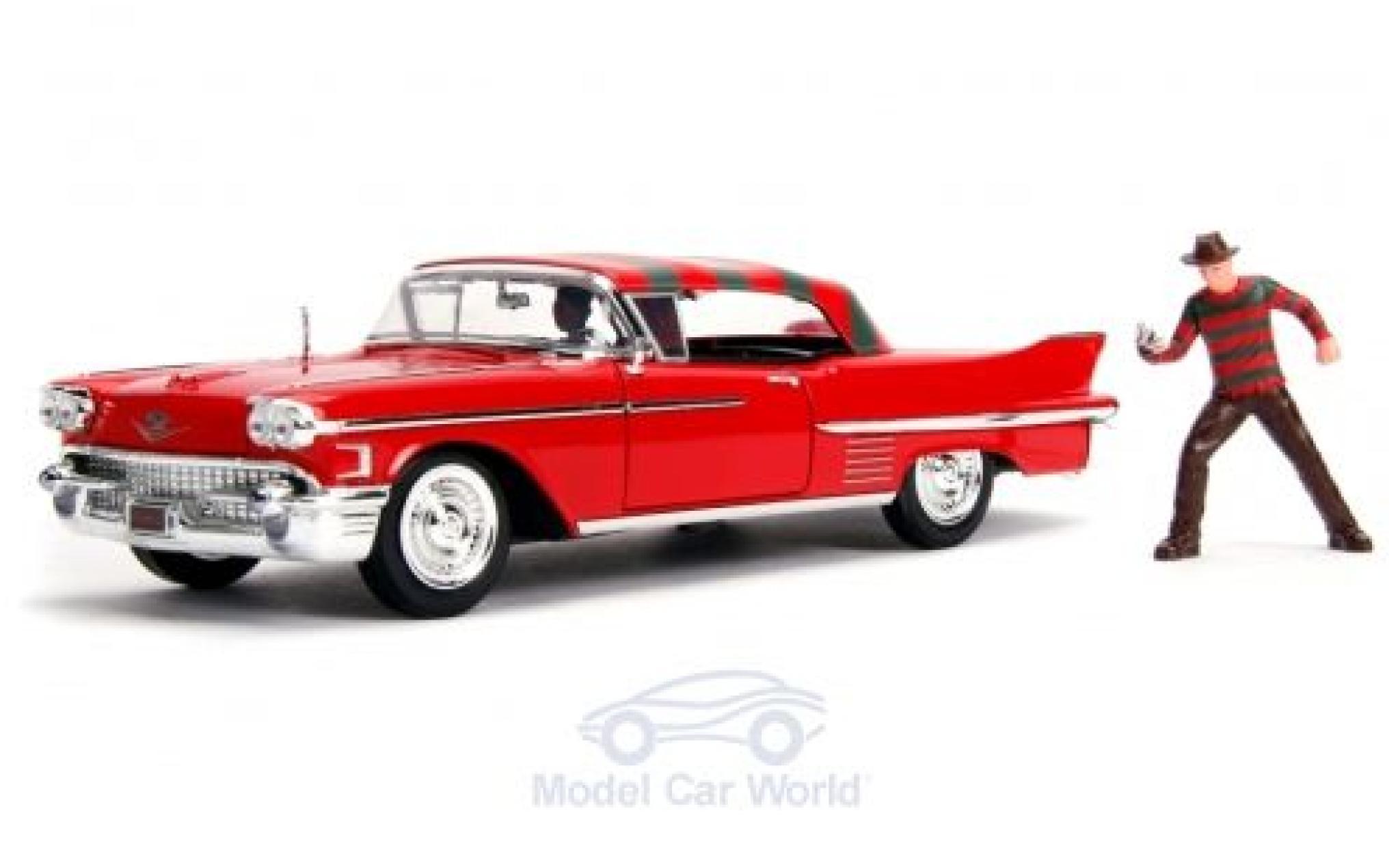 Cadillac Series 62 1/24 Jada rouge/Dekor A Nightmare on Elm Street 1958 mit Figuren